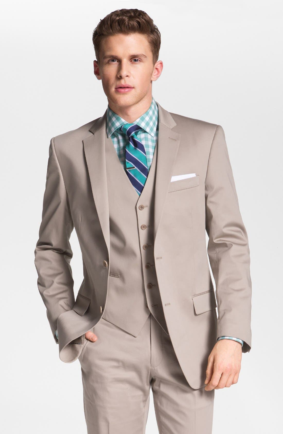 Alternate Image 1 Selected - John Varvatos Star USA 'Loft' Trim Fit Sportcoat