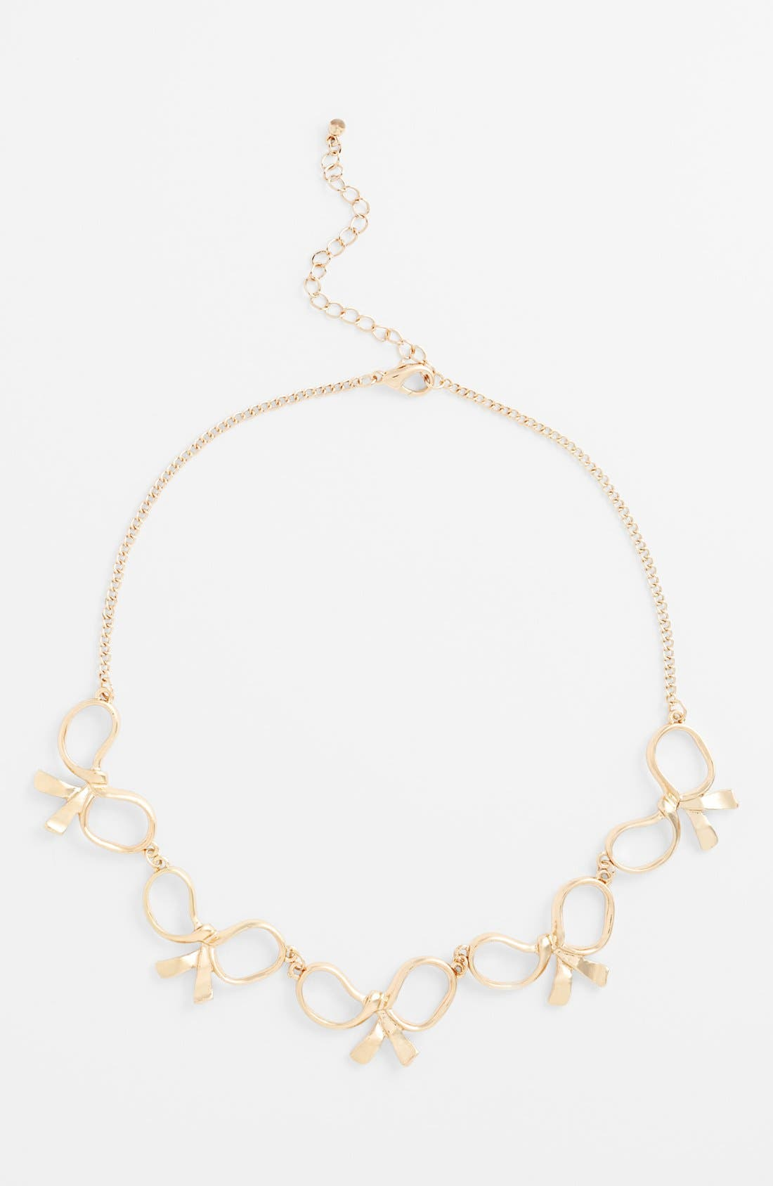 Main Image - Orion Cutout Bows Necklace