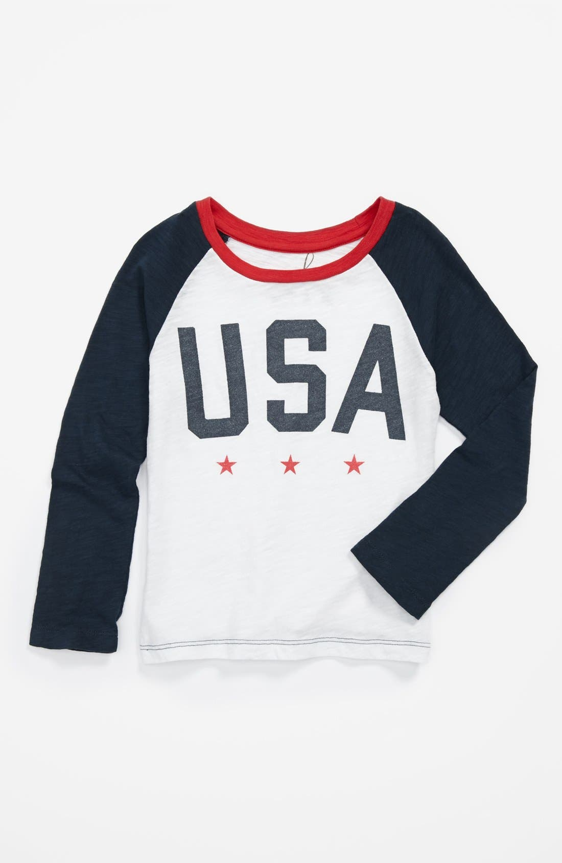 Alternate Image 1 Selected - Peek 'USA' Tee (Big Girls)