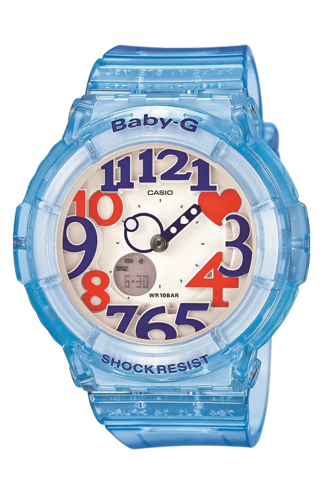 Alternate Image 1 Selected - Baby-G 'Transparent Marine' Dual Movement Watch, 43mm