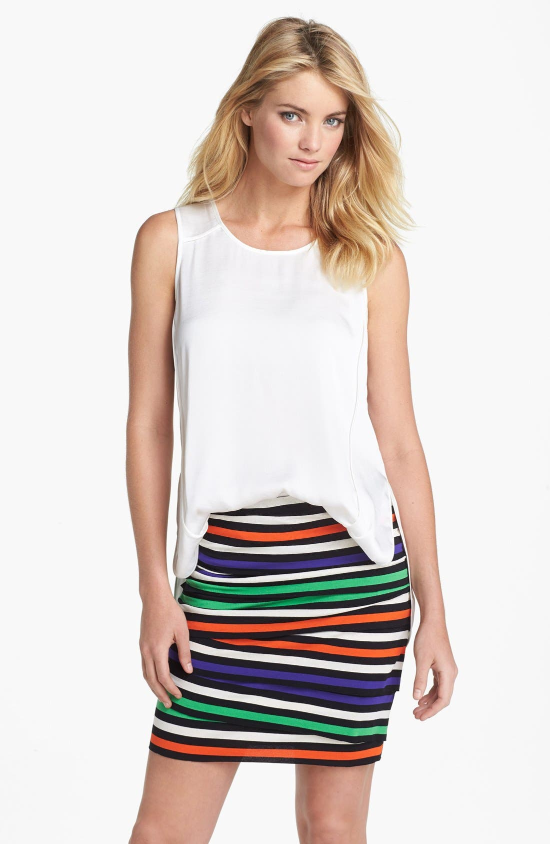 Alternate Image 1 Selected - Vince Camuto Seamed High/Low Tank