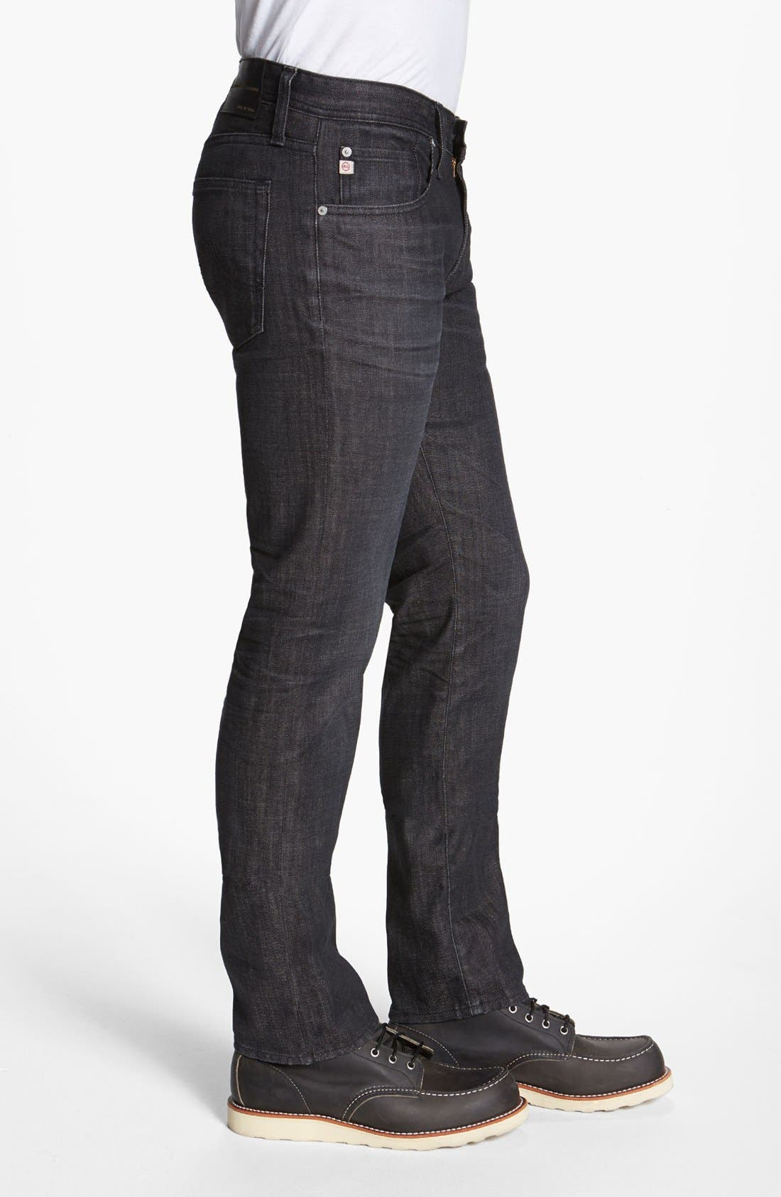 Alternate Image 3  - AG 'Matchbox' Slim Fit Jeans (1 Year Black)