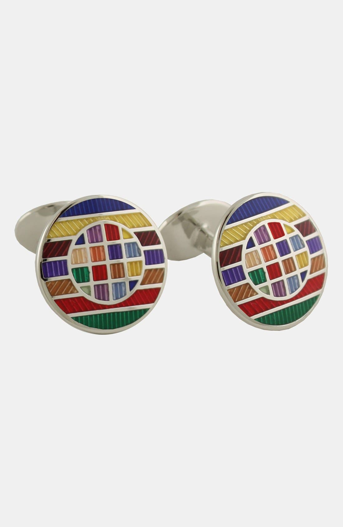Alternate Image 1 Selected - David Donahue Stripe Cuff Links