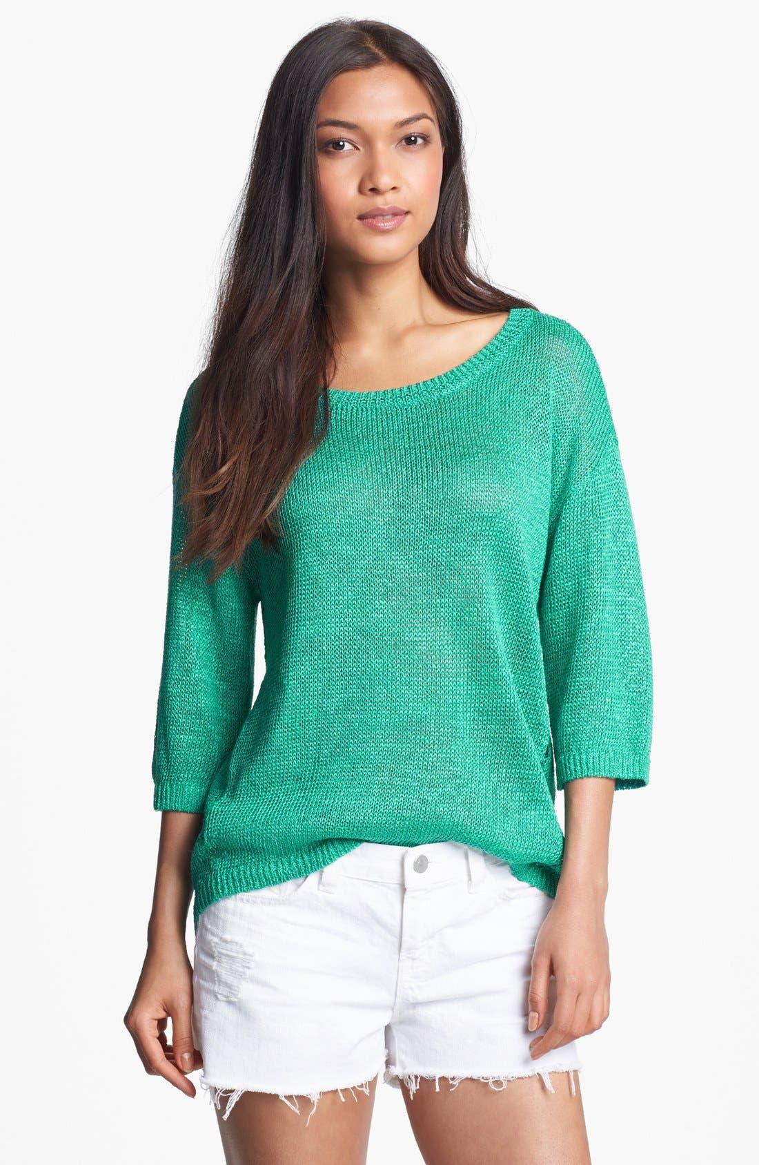 Main Image - Hinge® Drop Stitch Sweater