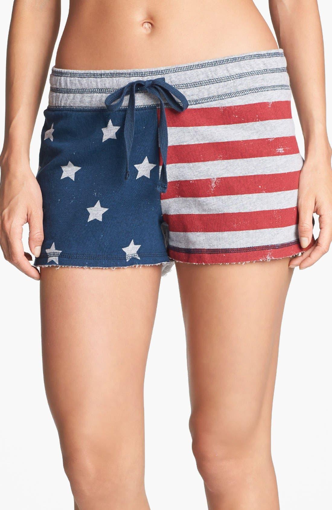 Alternate Image 1 Selected - PJ Salvage 'Stars & Stripes Flag' Shorts