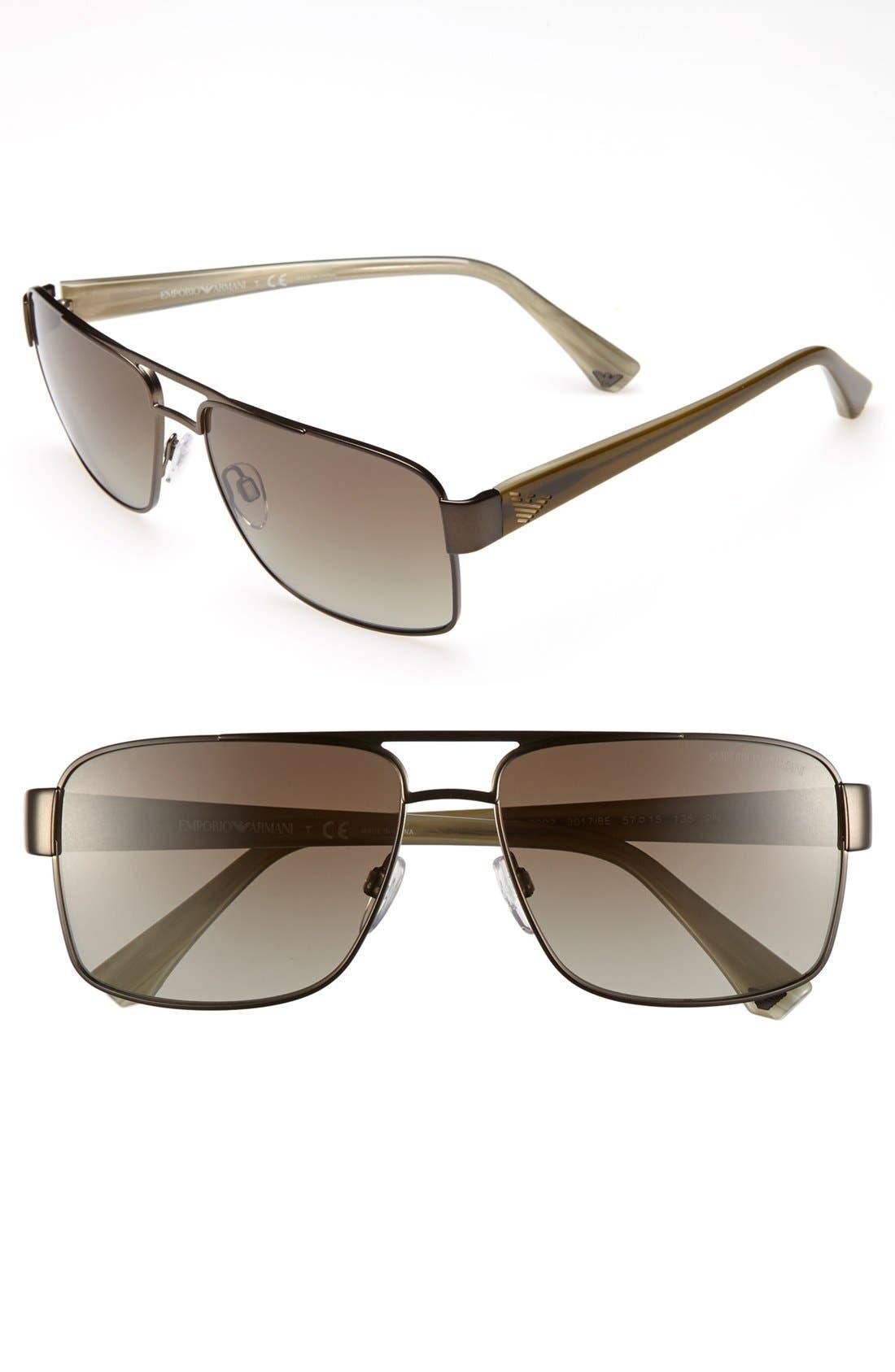 Alternate Image 1 Selected - Emporio Armani 57mm Sunglasses