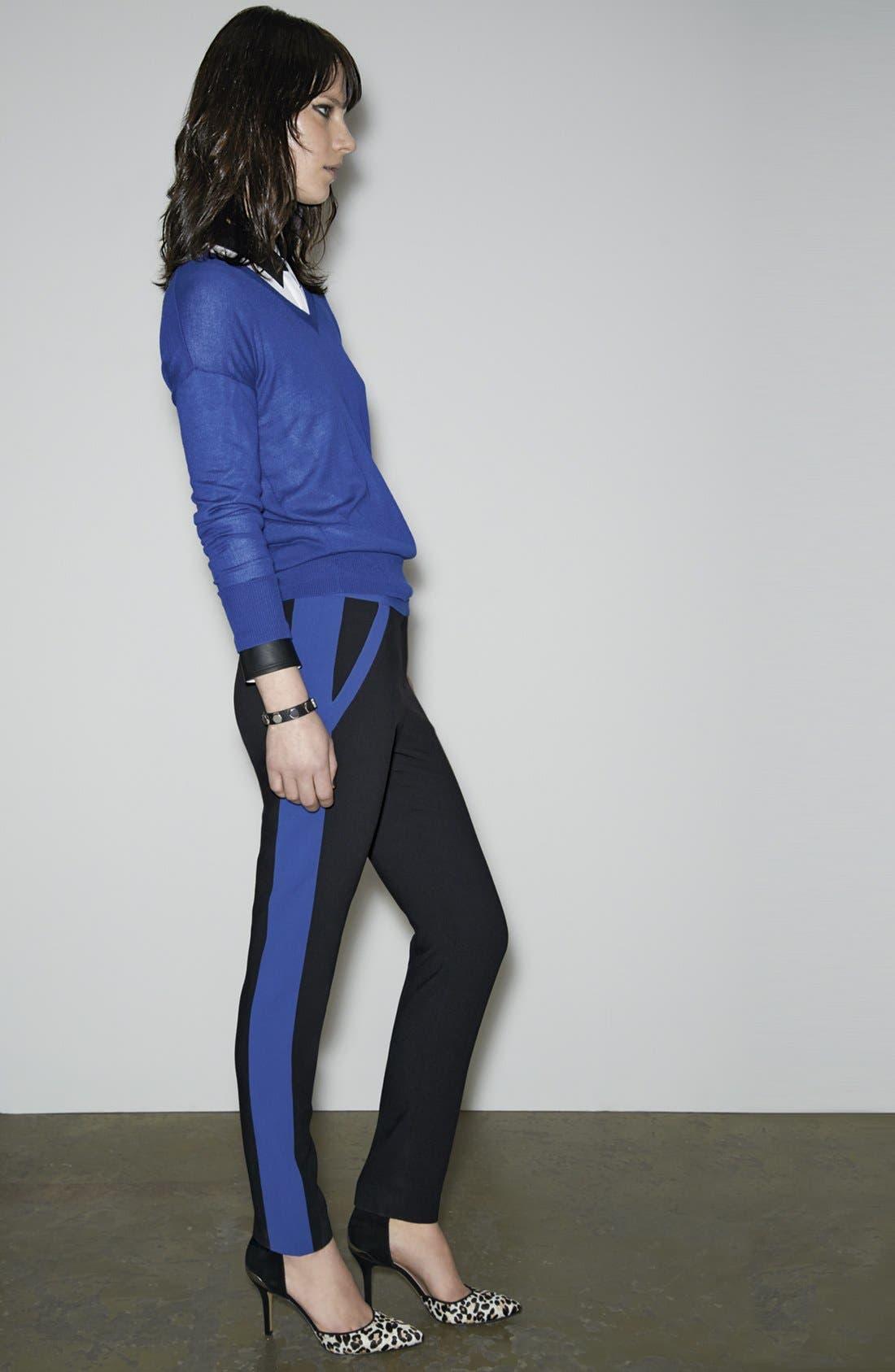 Alternate Image 6  - Halogen® 'Quinn' Tuxedo Skinny Ankle Pants