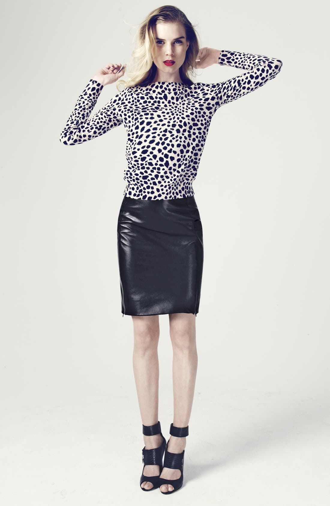 Alternate Image 5  - Diane von Furstenberg 'Rita 2' Leather Pencil Skirt