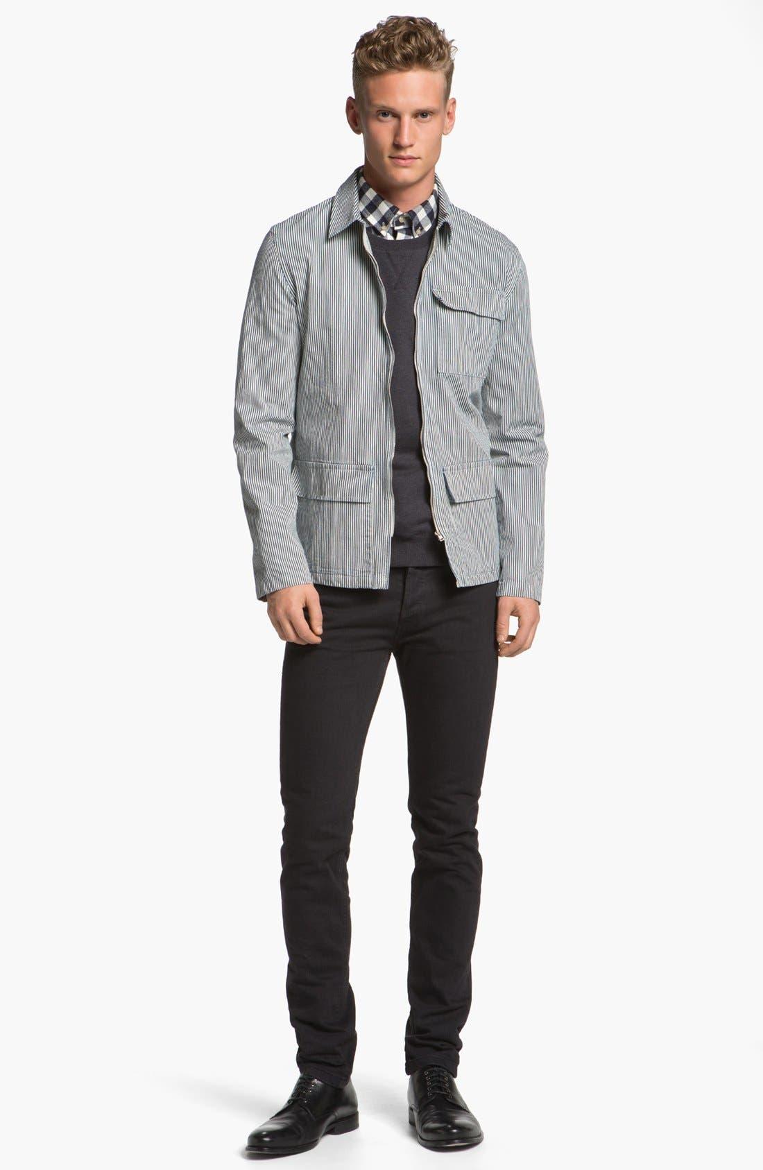 Alternate Image 4  - A.P.C. Check Cotton Flannel Shirt