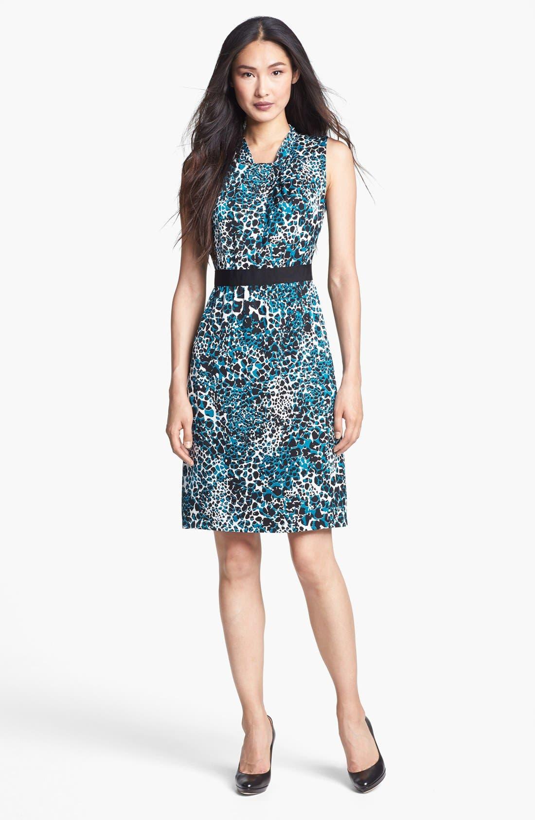 Main Image - Classiques Entier® Sleeveless Stretch Silk Dress
