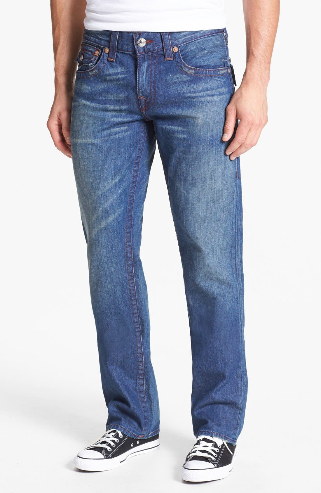 Alternate Image 2  - True Religion Brand Jeans 'Ricky' Straight Leg Jeans (Medium Drifter)