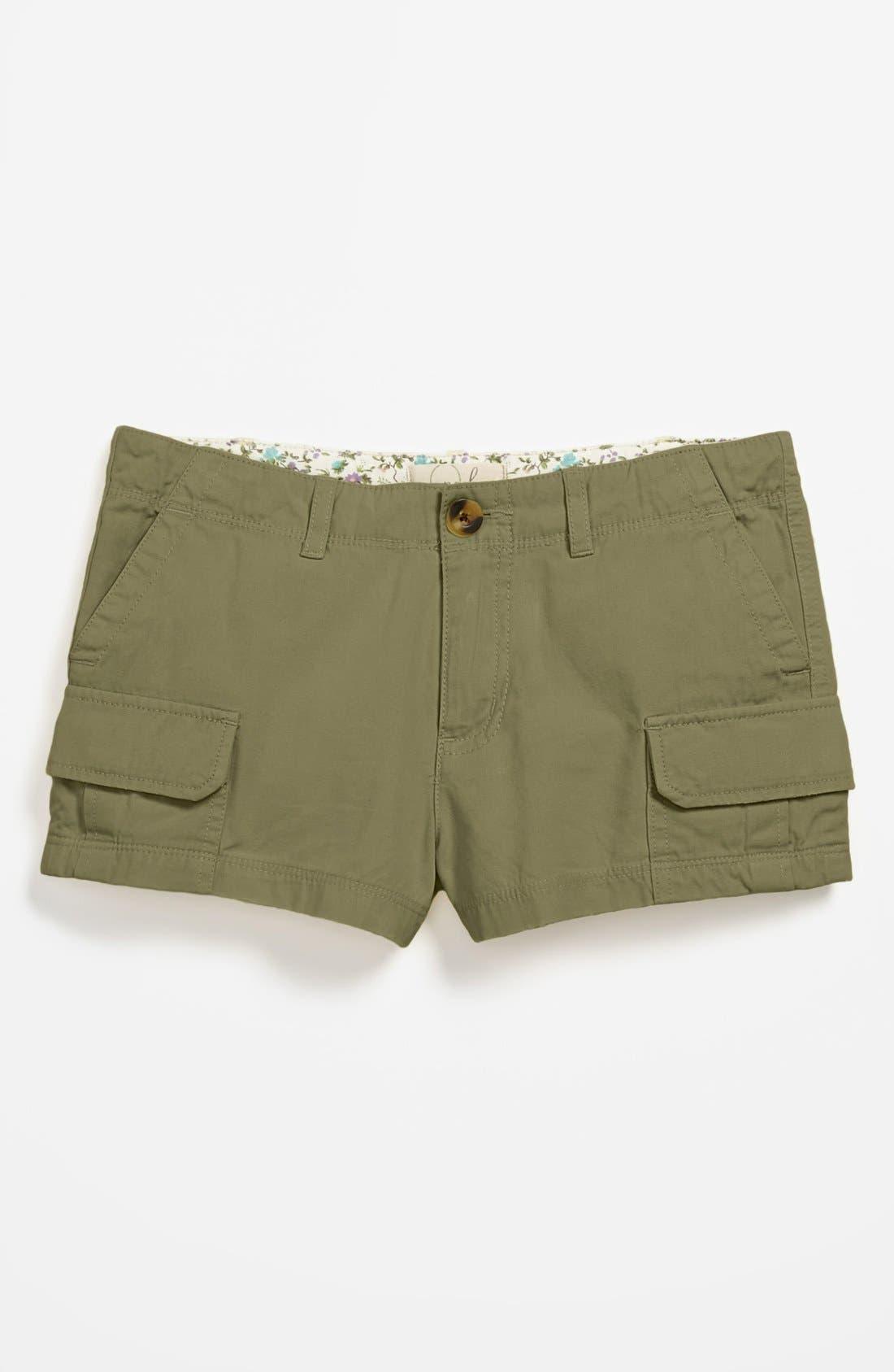 Alternate Image 2  - Peek 'Stella' Cargo Shorts (Big Girls)