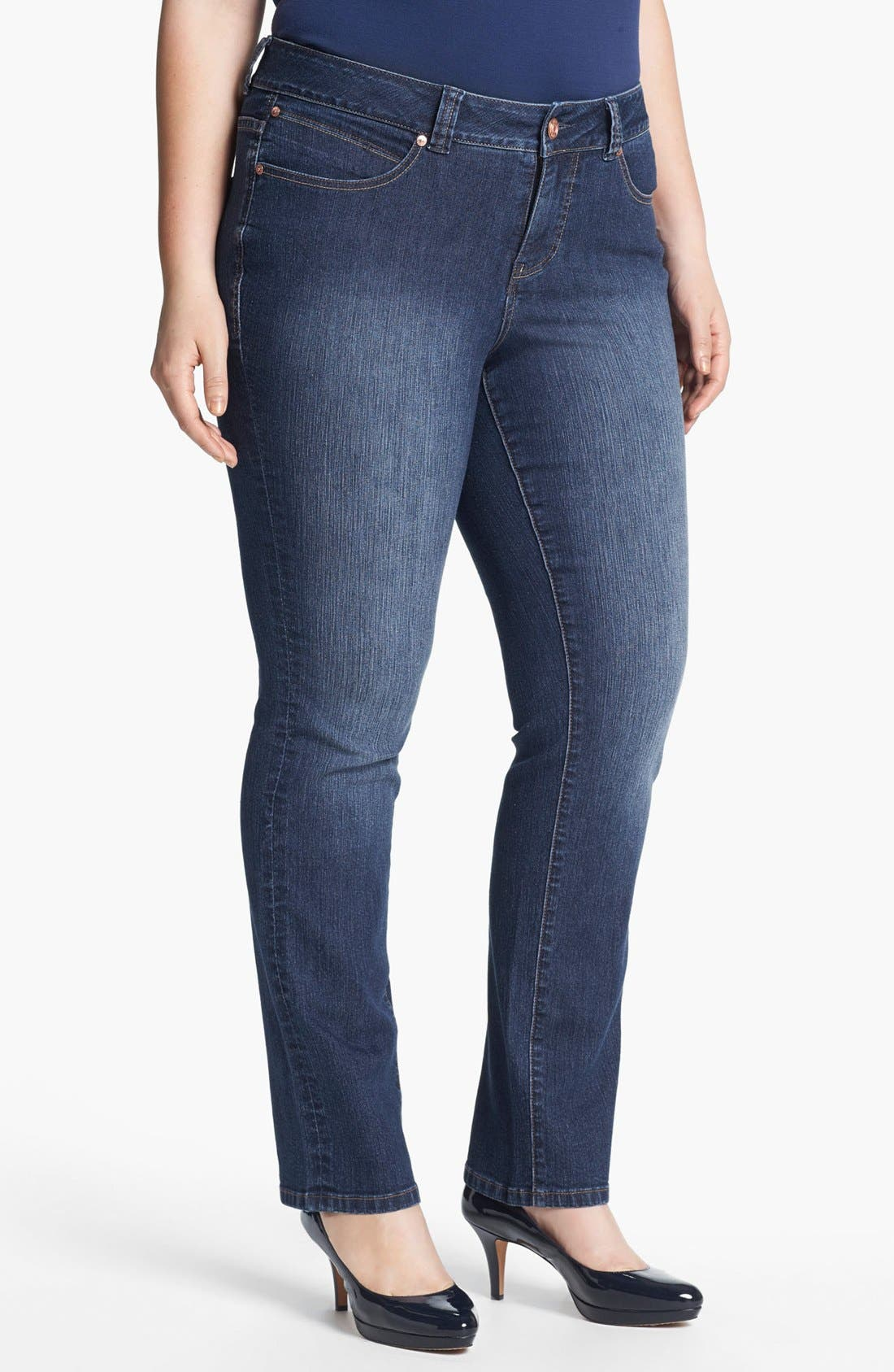 Alternate Image 1 Selected - Jag Jeans 'Andie' Straight Leg Jeans (Plus Size)