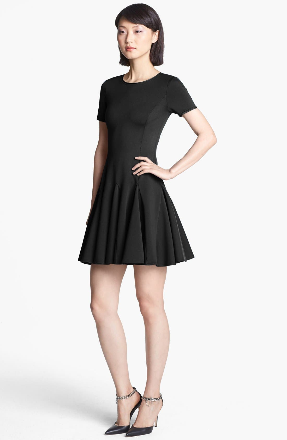 Main Image - Halston Heritage Fit & Flare Ponte Dress