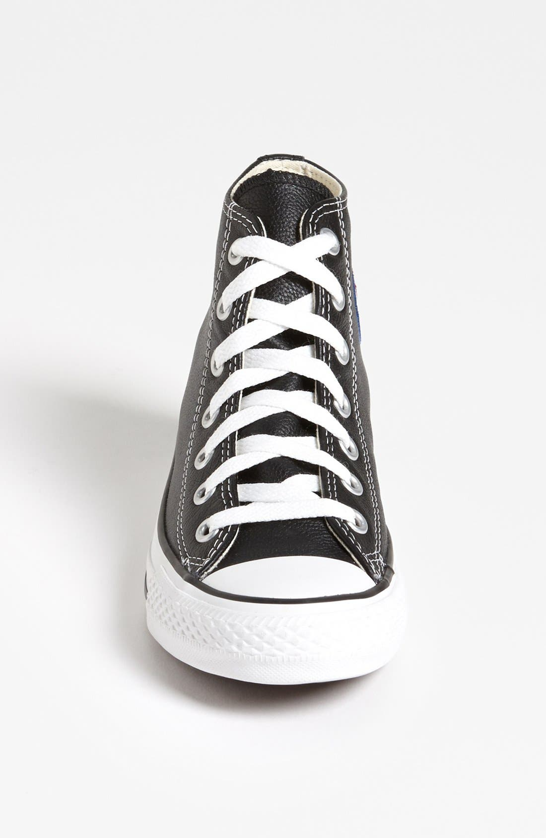 Alternate Image 3  - Converse Chuck Taylor® All-Star® Leather High Top Sneaker (Women)