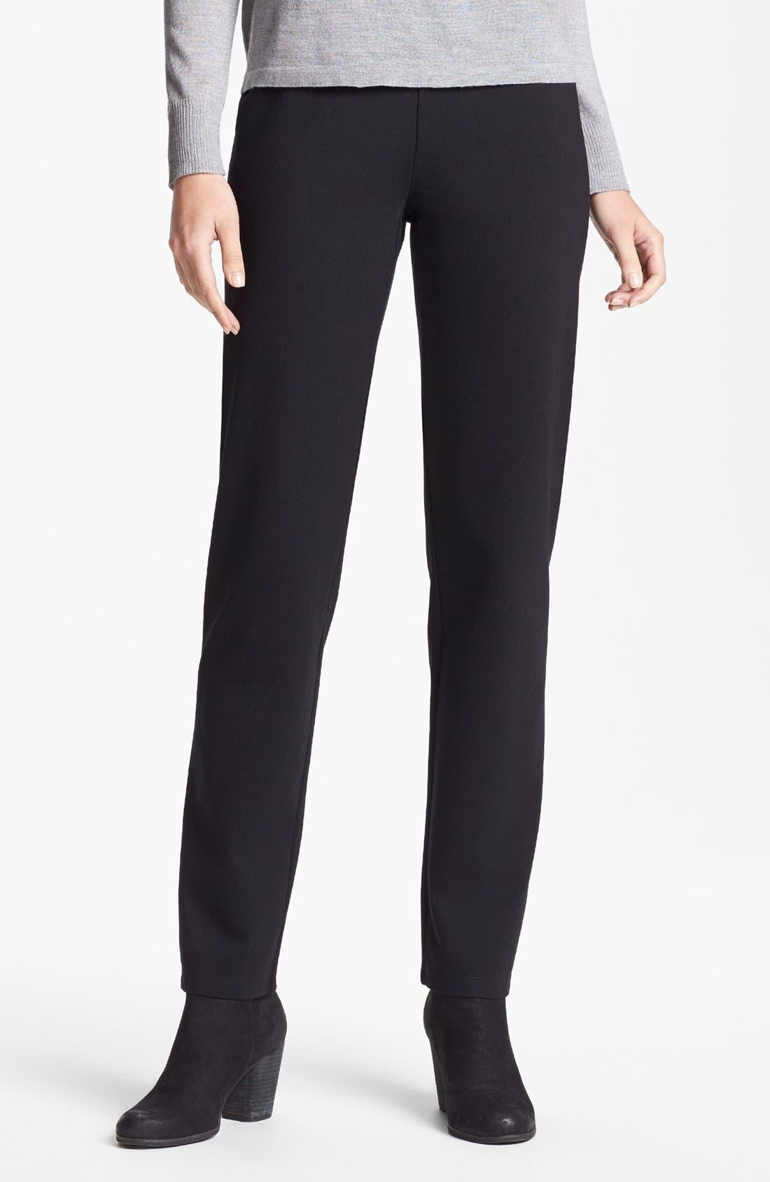 Main Image - Eileen Fisher Slim Pull-On Pants