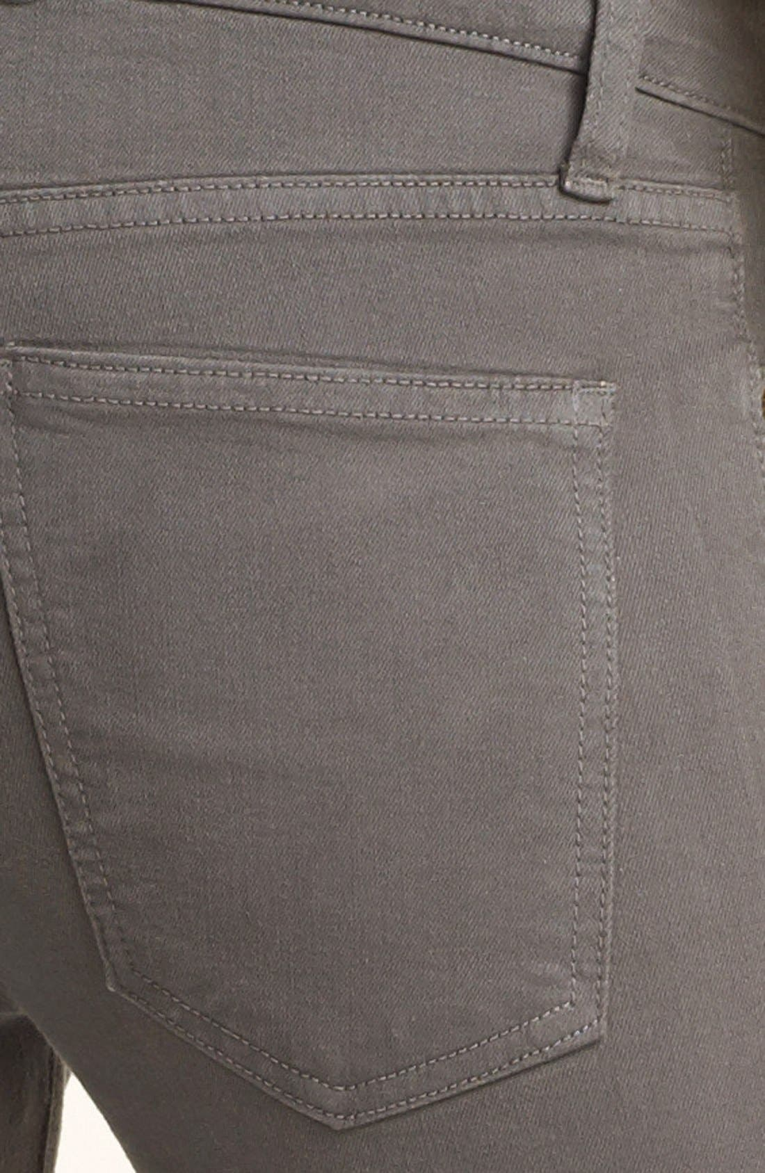 Alternate Image 3  - Current/Elliott 'The Stiletto' Coated Stretch Jeans (Ombré Coated Dark Castle)