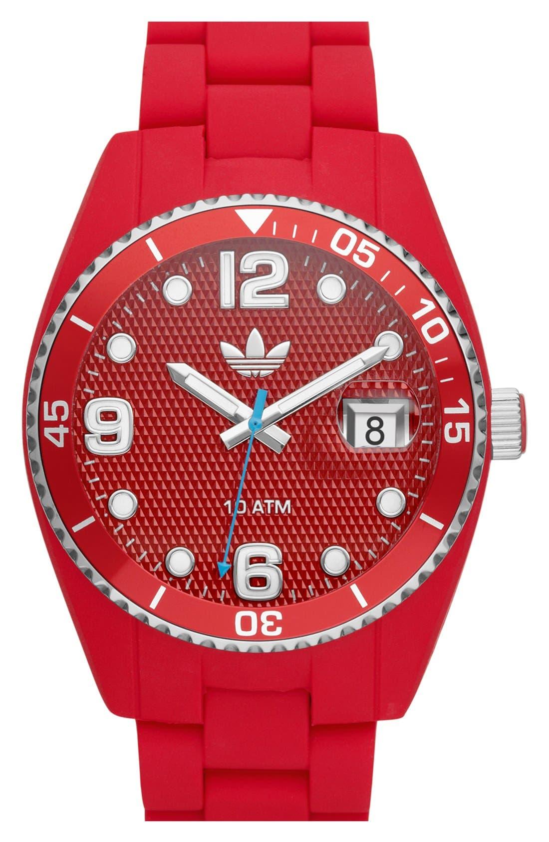 Main Image - adidas Originals 'Brisbane' Silicone Bracelet Watch, 42mm