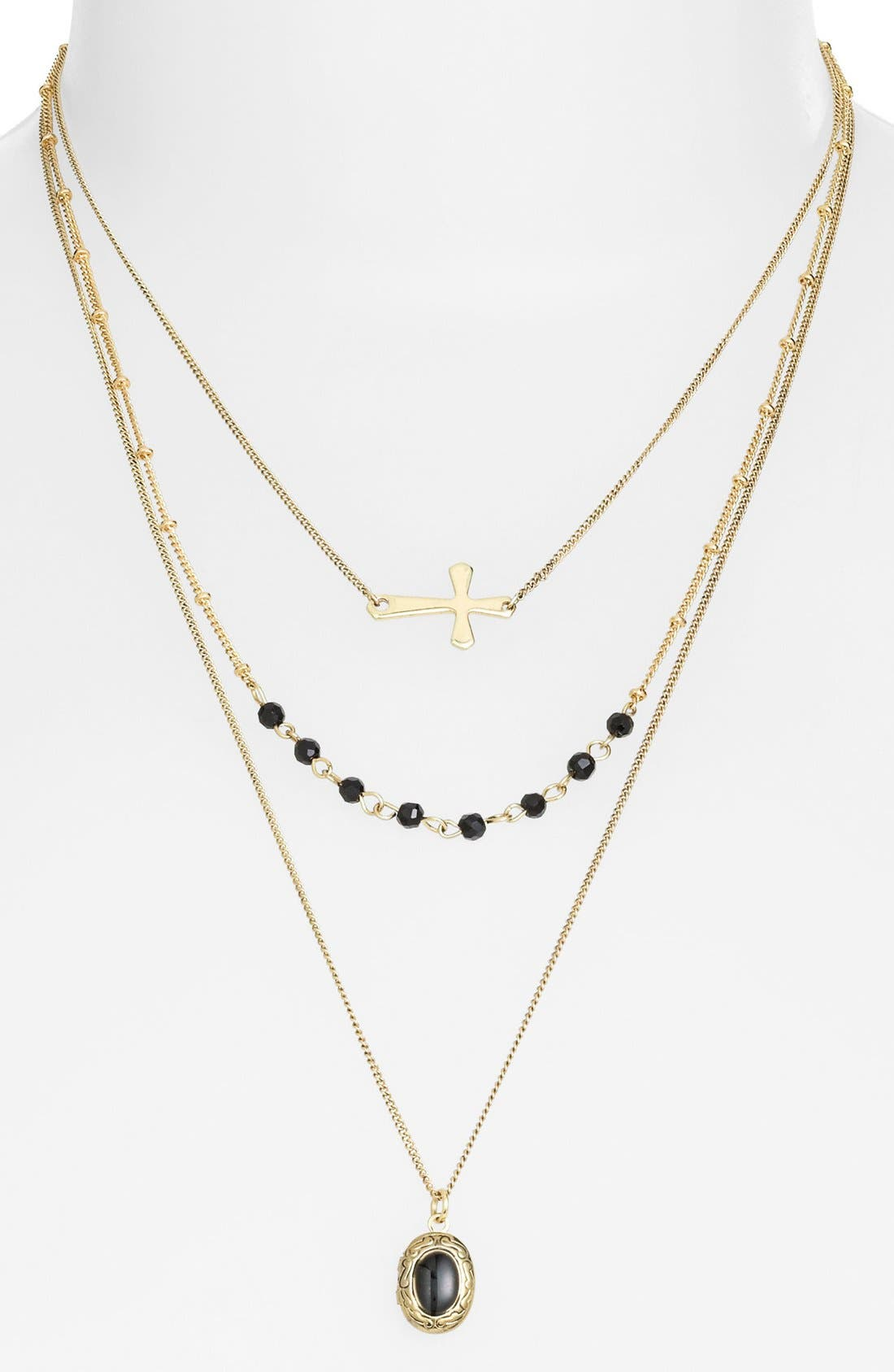 Alternate Image 1 Selected - Stephan & Co. Multistrand Charm Necklace (Juniors)