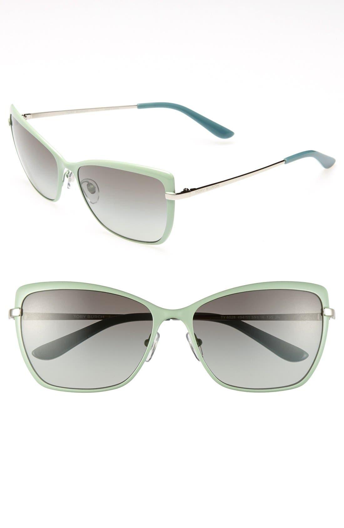 Main Image - Tory Burch 59mm Retro Sunglasses