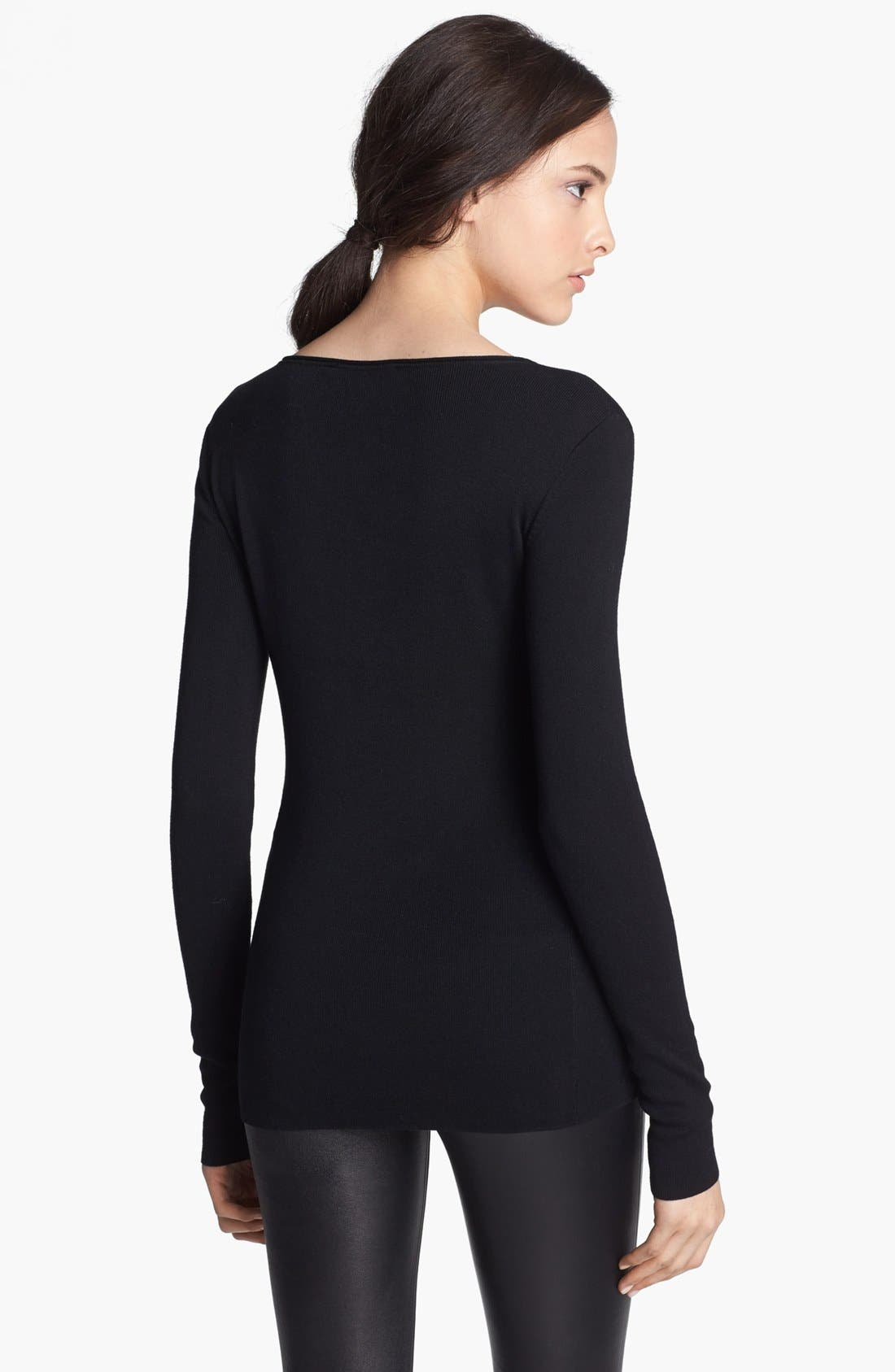 Alternate Image 2  - T by Alexander Wang Fitted Jersey Sweater