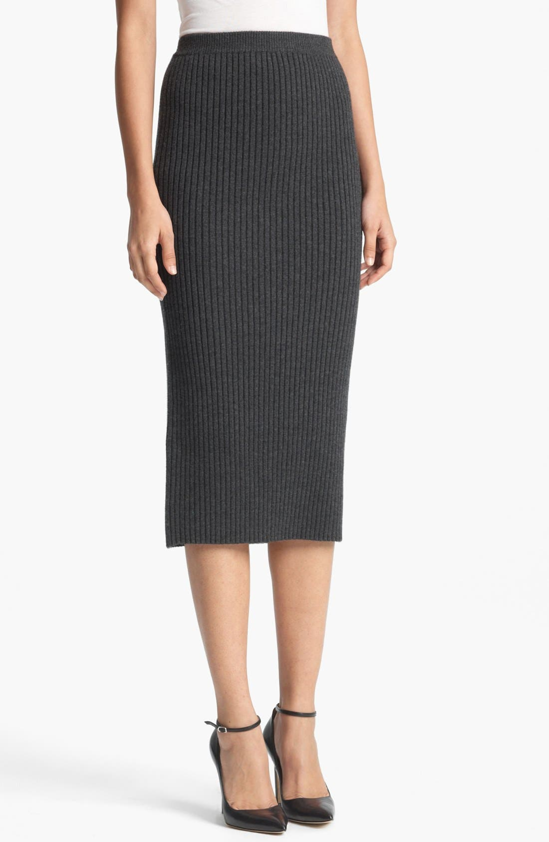 Alternate Image 1 Selected - Michael Kors Ribbed Tube Skirt