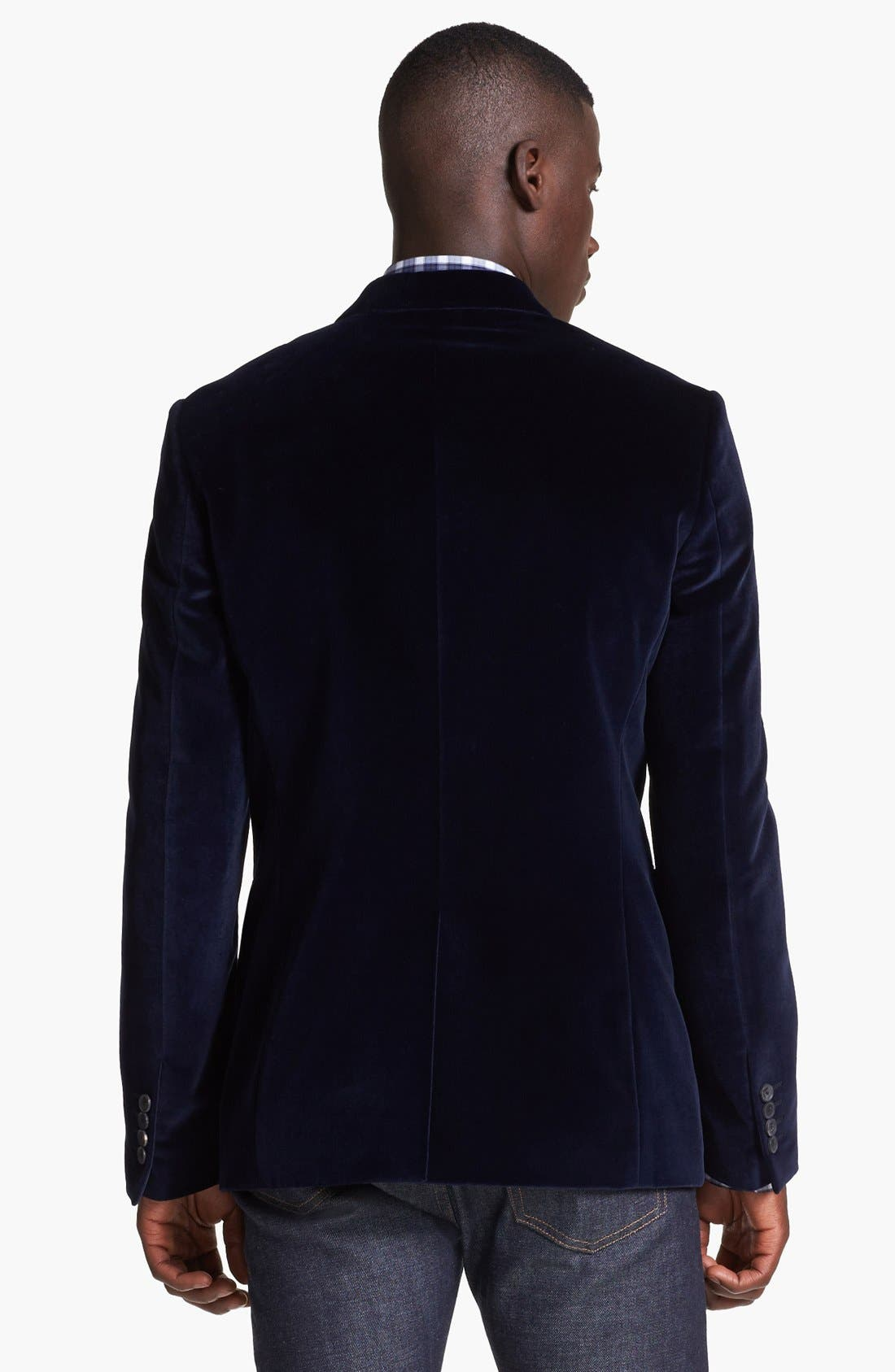 Alternate Image 2  - Paul Smith London Velvet Blazer