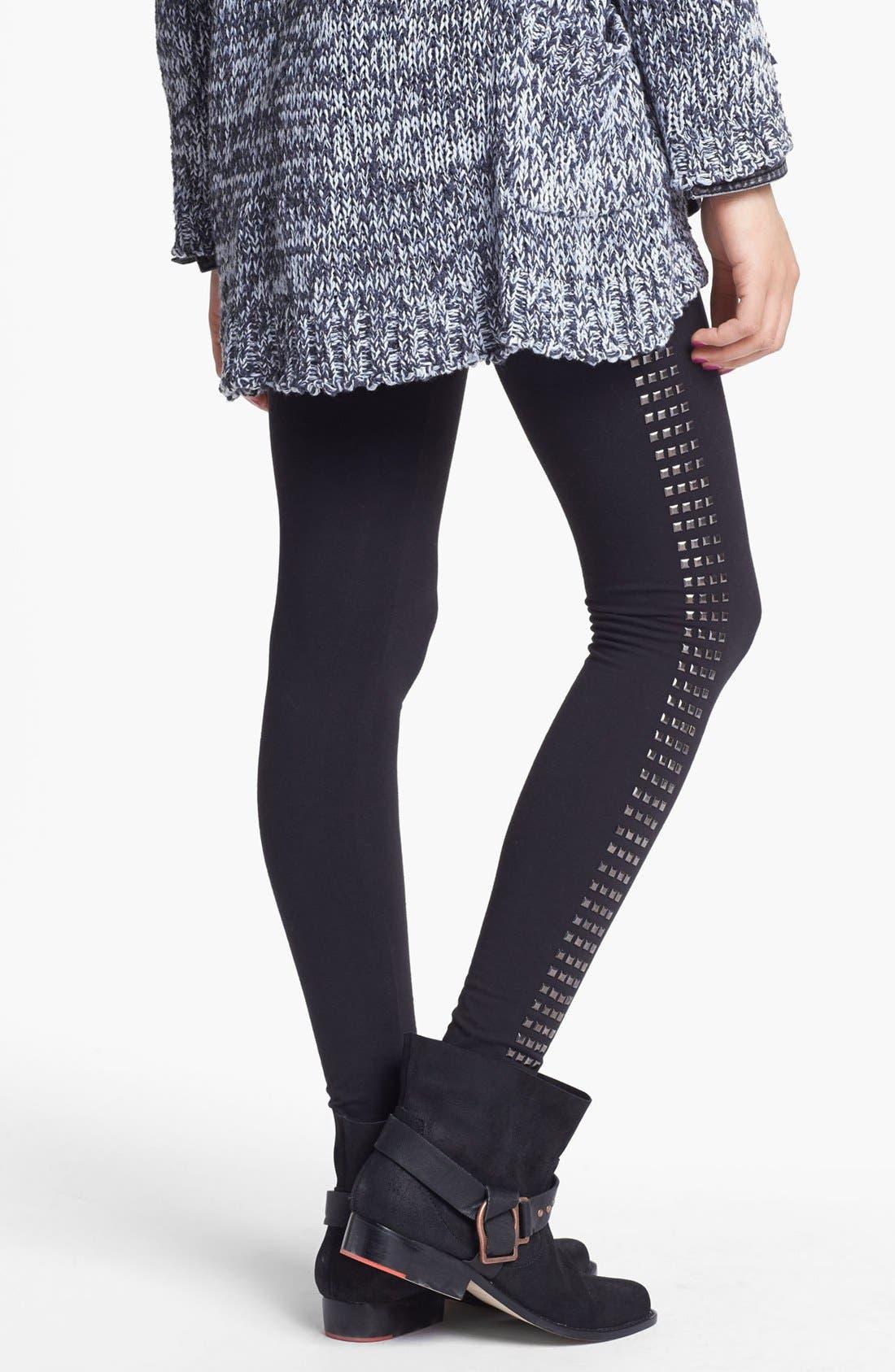 Alternate Image 2  - Rubbish® Square Studded Leggings (Juniors)