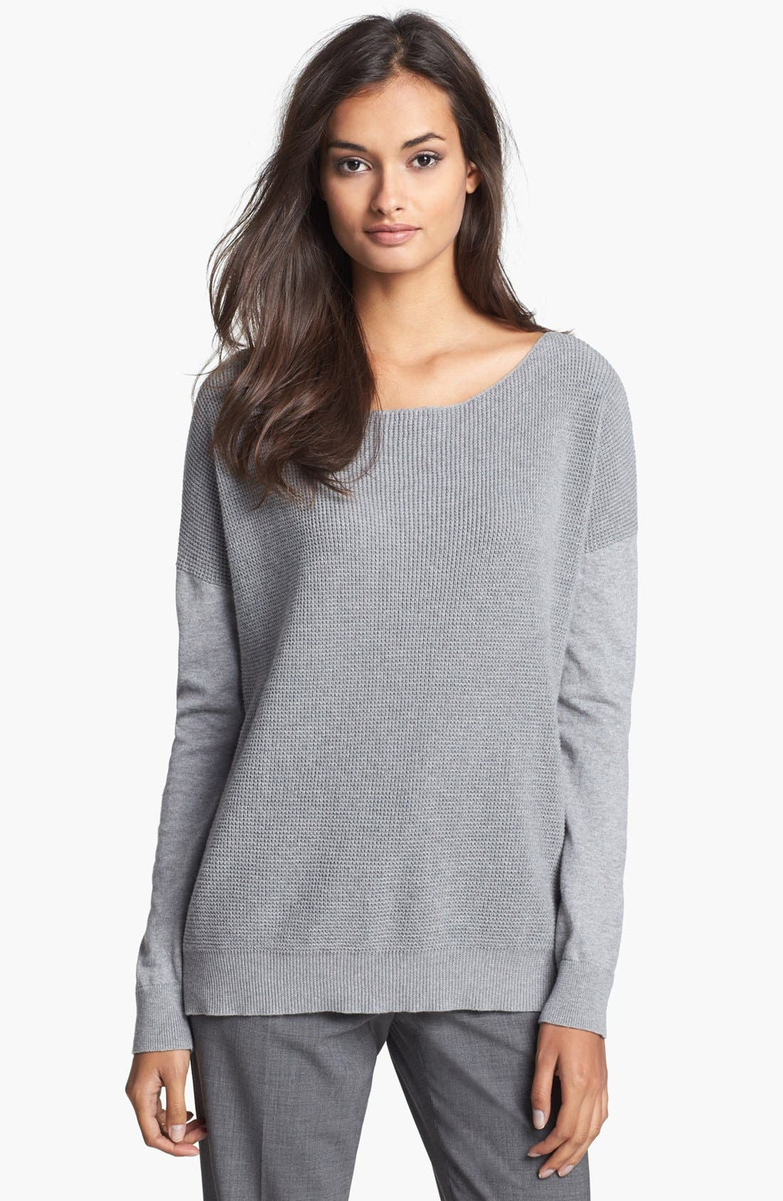Alternate Image 1 Selected - Theory Cotton & Cashmere Sweater