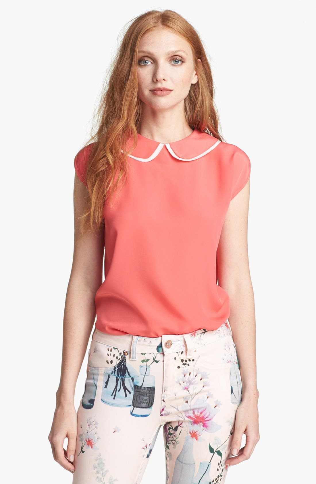 Alternate Image 1 Selected - Ted Baker London Layered Collar Top