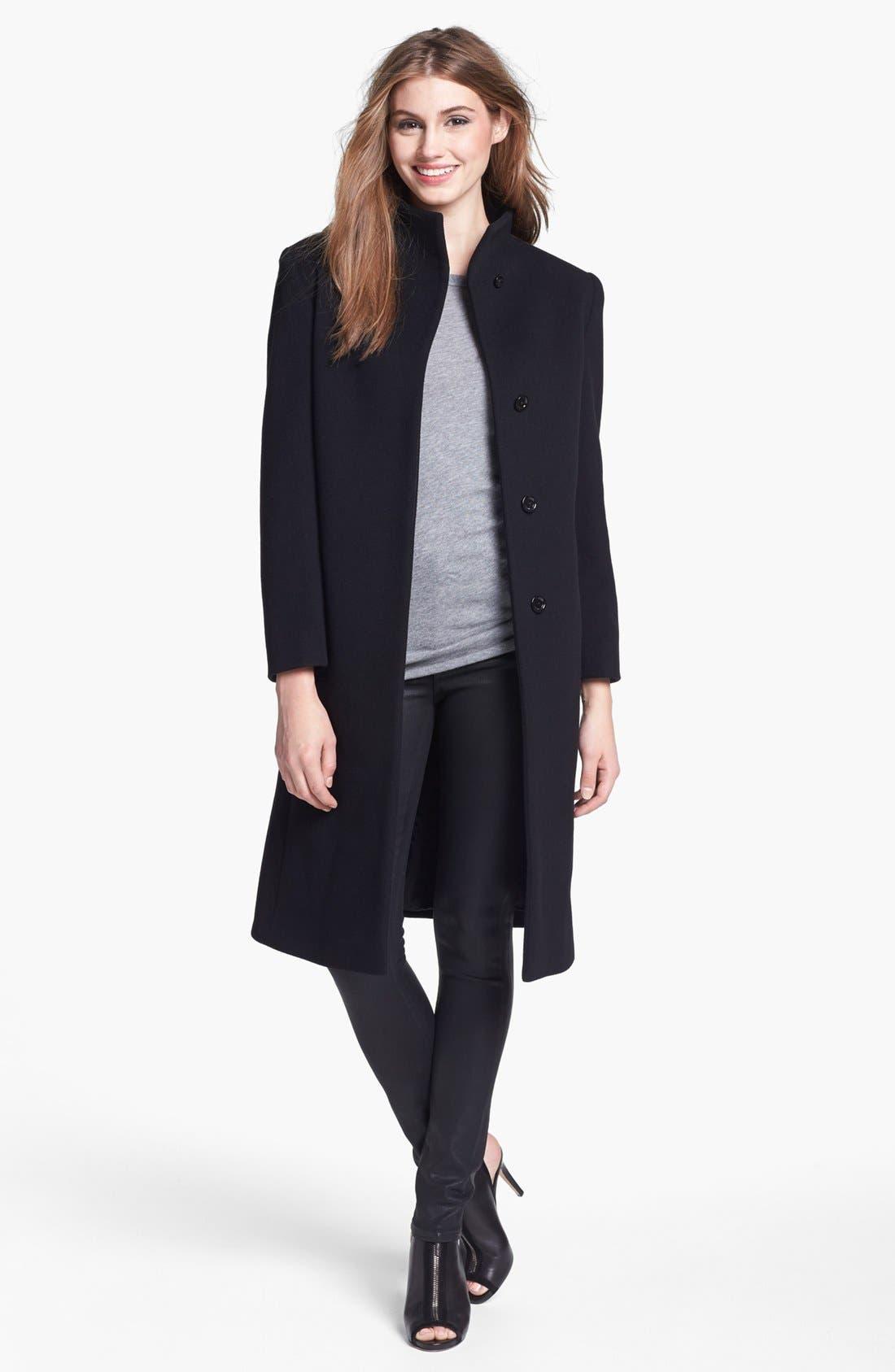 Alternate Image 4  - Cinzia Rocca Due Funnel Neck Wool & Cashmere Blend Walking Coat (Petite)