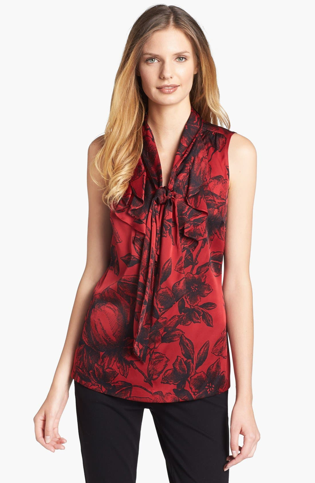 Alternate Image 1 Selected - Classiques Entier® Ruffled Stretch Silk Blouse