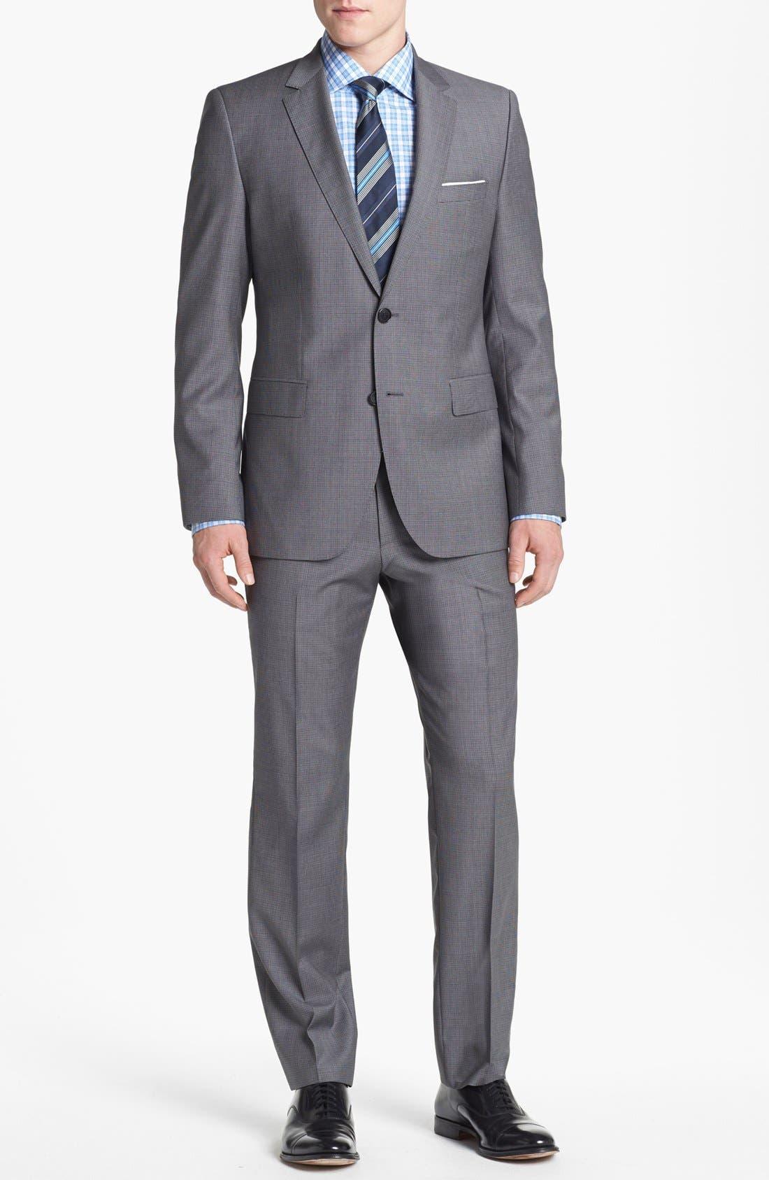 Alternate Image 1 Selected - BOSS HUGO BOSS 'James/Sharp' Trim Fit Houndstooth Suit