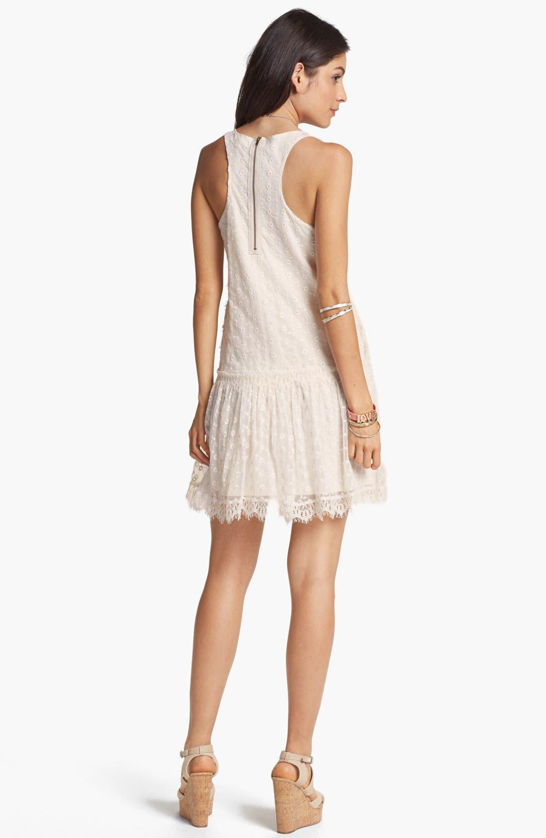 Alternate Image 3  - Fire Drop Waist Lace Dress (Juniors)