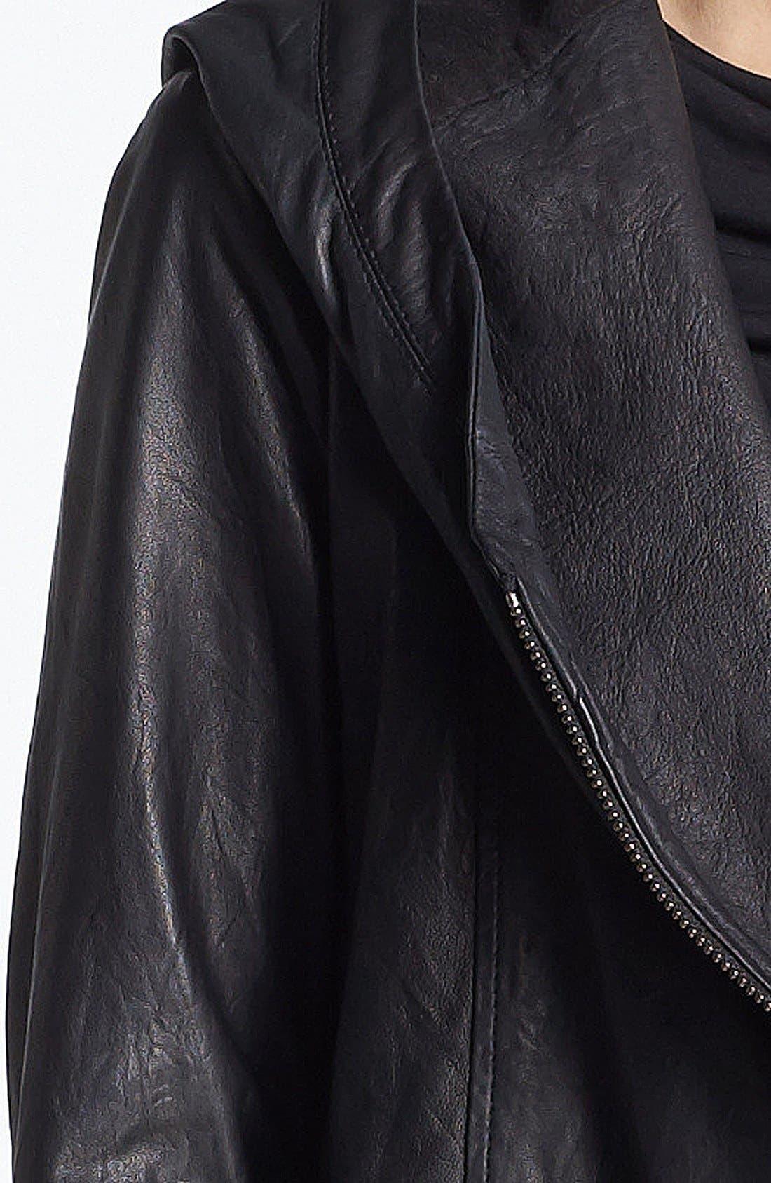 Alternate Image 5  - HELMUT Helmut Lang Hooded Washed Leather Jacket