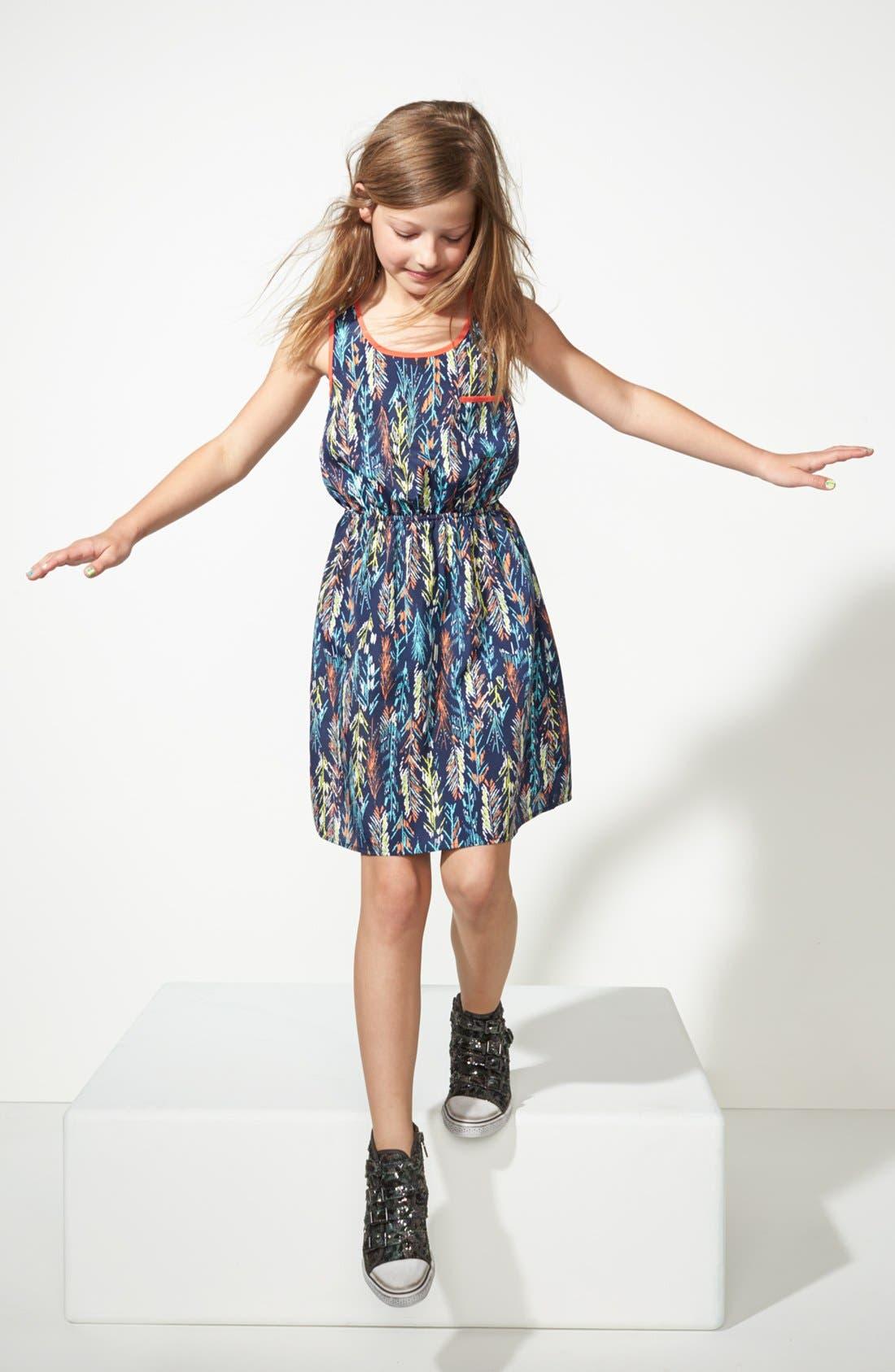 Main Image - Soprano Woven Sleeveless Dress (Big Girls)
