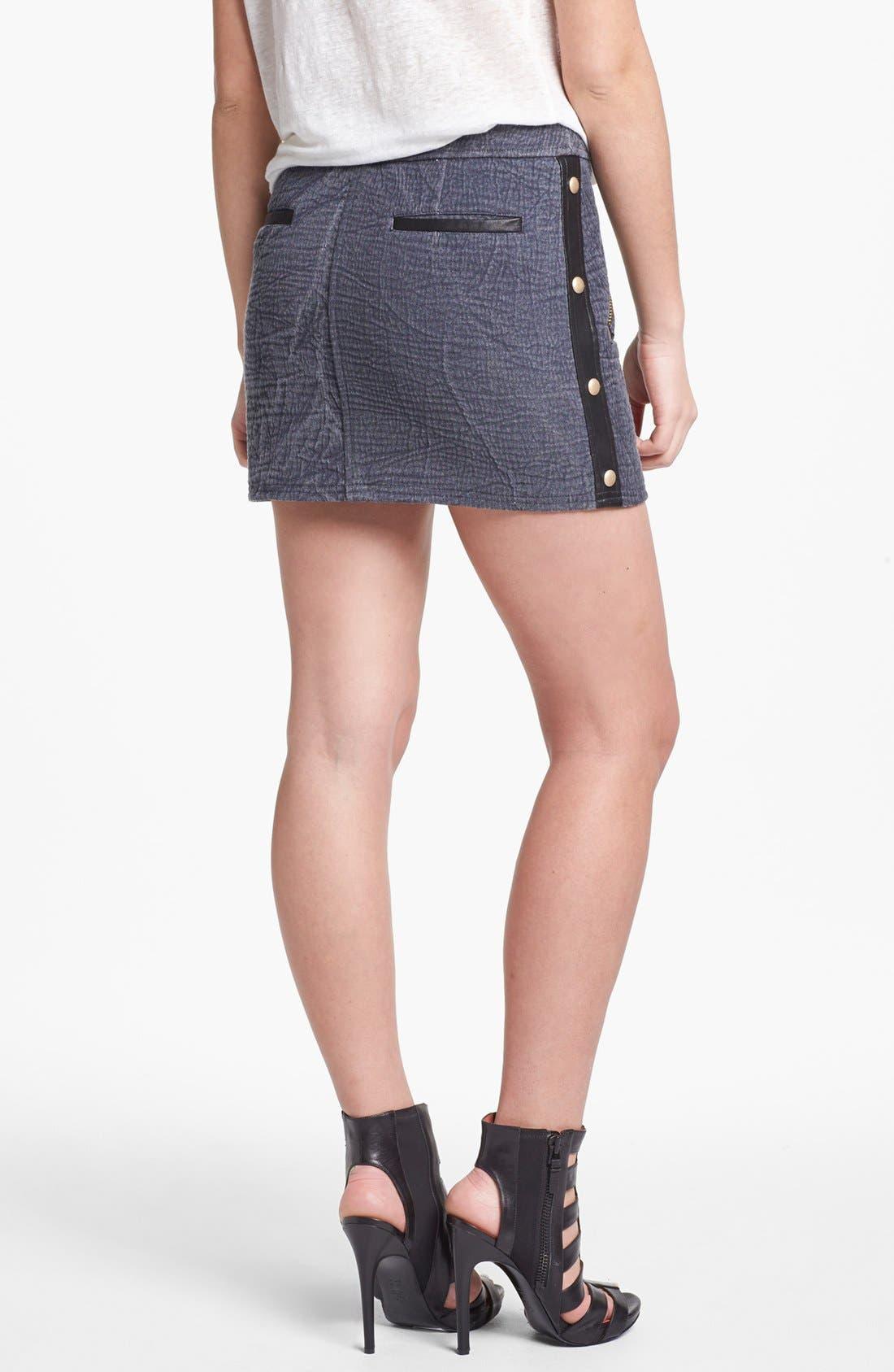 'Fred' Denim Miniskirt,                             Alternate thumbnail 2, color,                             Cadet/ Black