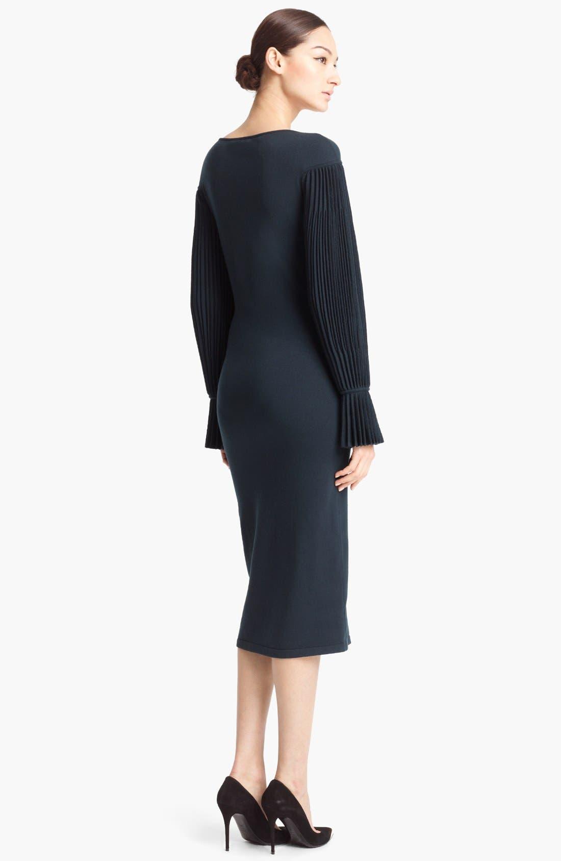 Alternate Image 2  - Alexander McQueen Pleated Sleeve Dress