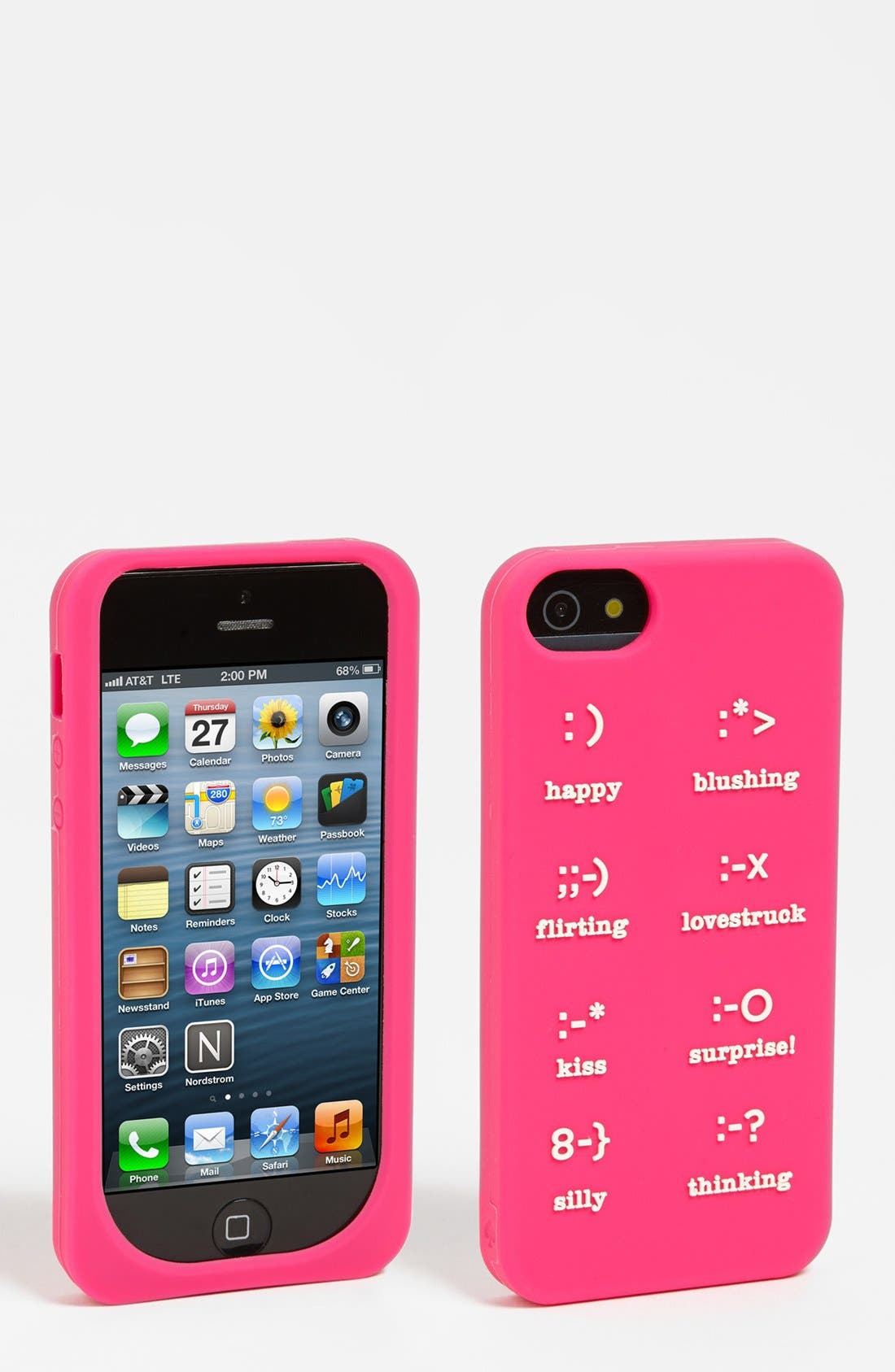 Alternate Image 1 Selected - kate spade new york 'emoticons' iPhone 5 & 5S case