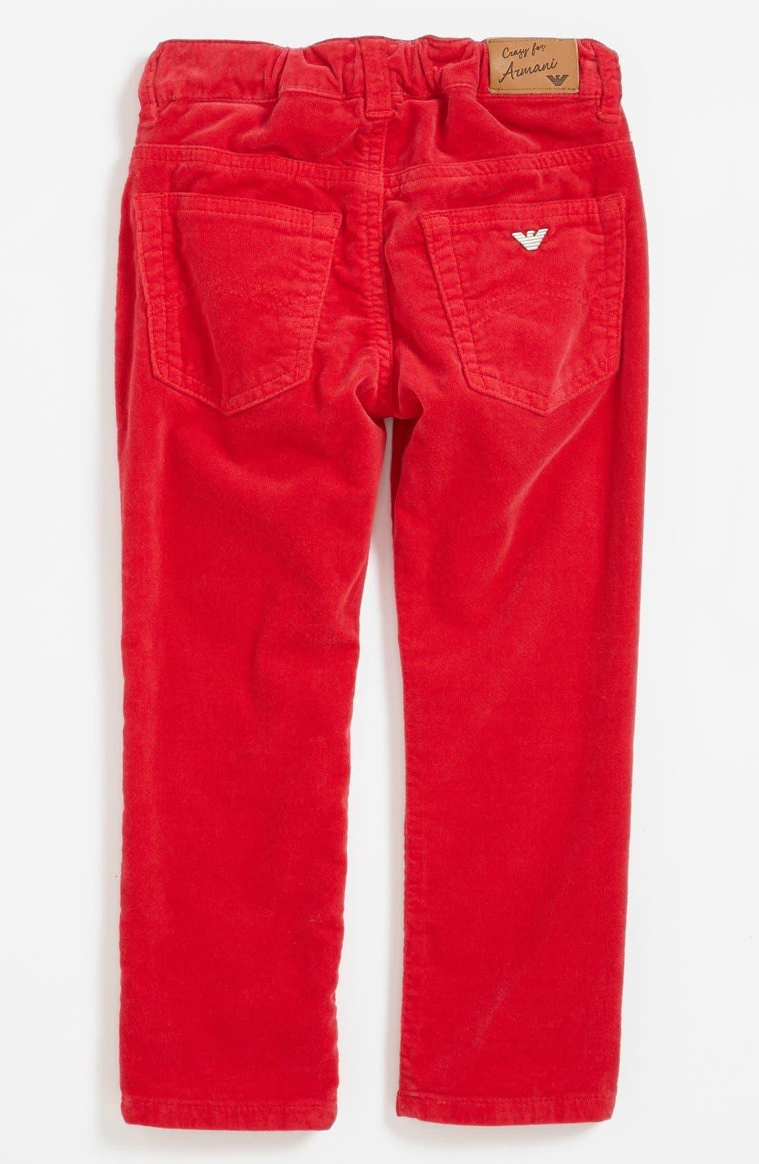 Alternate Image 2  - Armani Junior Corduroy Pants (Toddler Girls, Little Girls & Big Girls)