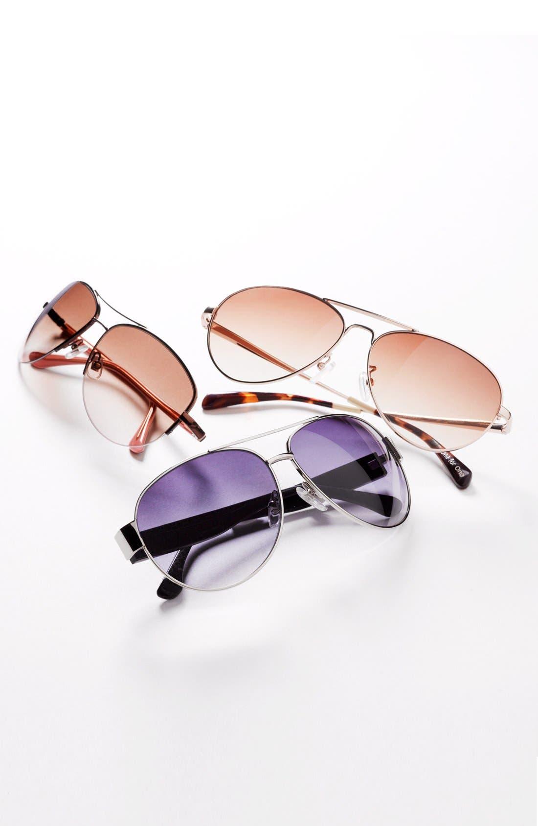 Alternate Image 2  - TOMS 'Maverick' 60mm Aviator Sunglasses