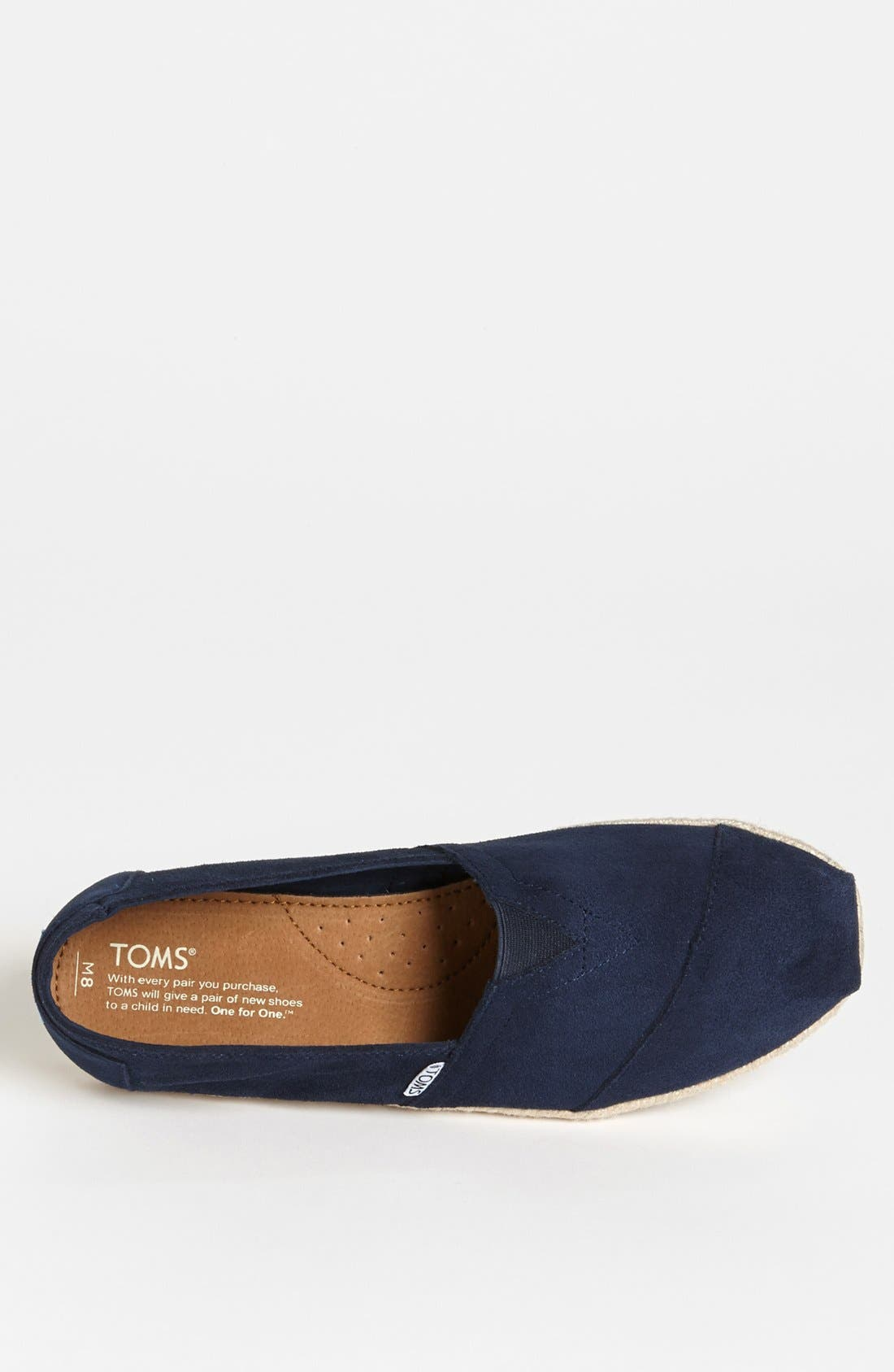 Alternate Image 3  - TOMS 'Classic' Suede Slip-On   (Men)