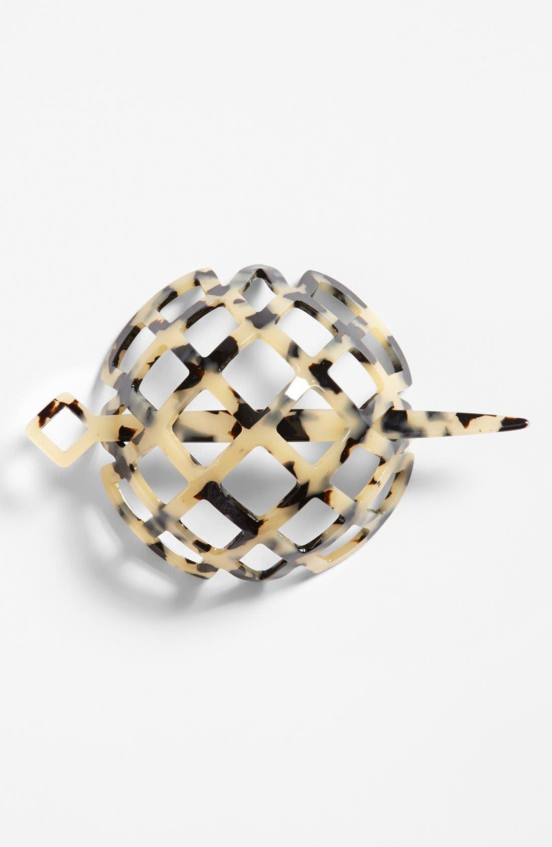 Alternate Image 1 Selected - France Luxe 'Lattice' Chignon Cap