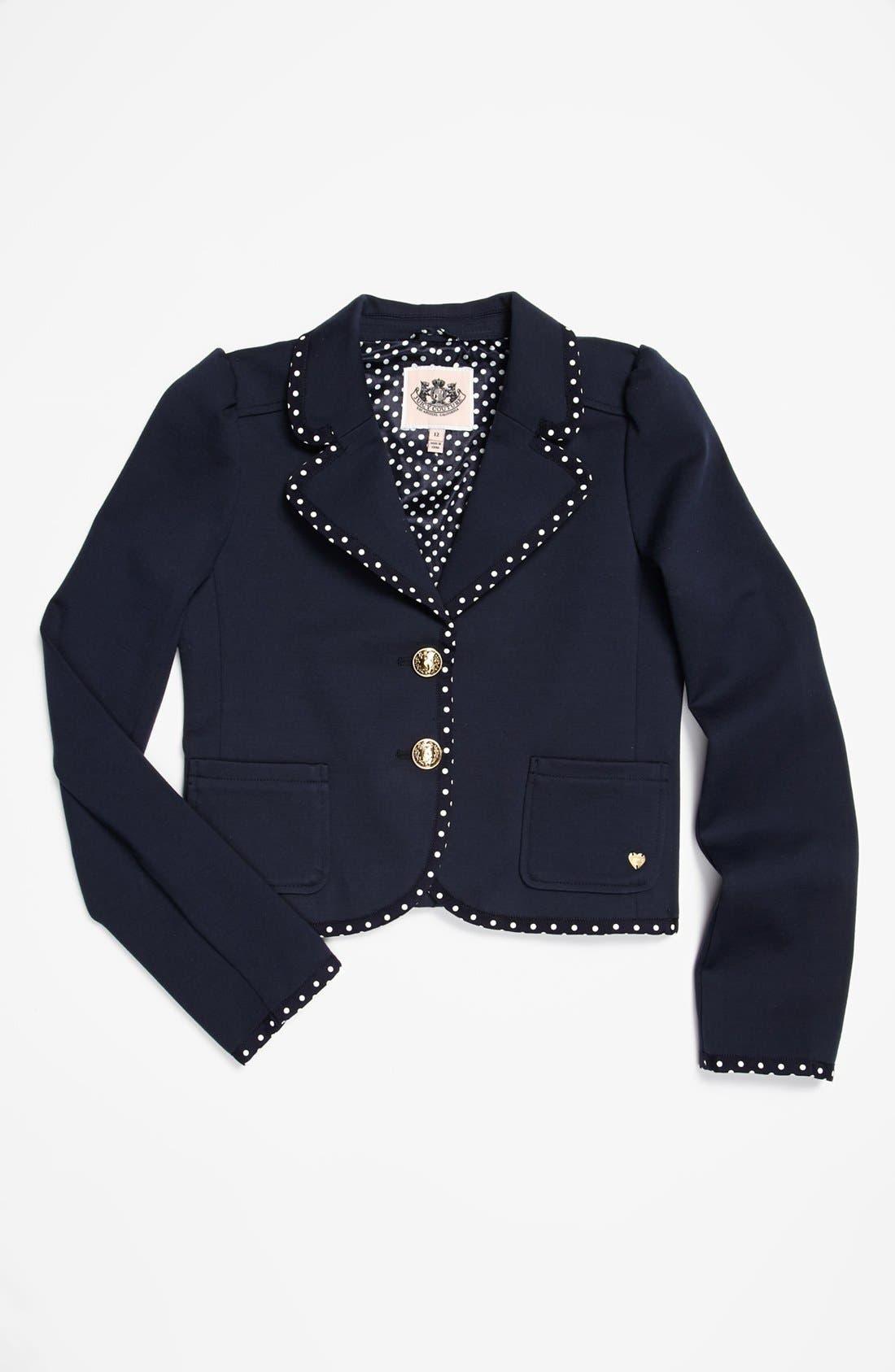 Alternate Image 1 Selected - Juicy Couture Ponte Jacket (Big Girls)