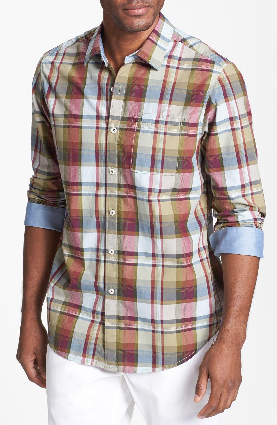 Main Image - Tommy Bahama Denim 'Big Daddy' Island Modern Fit Sport Shirt