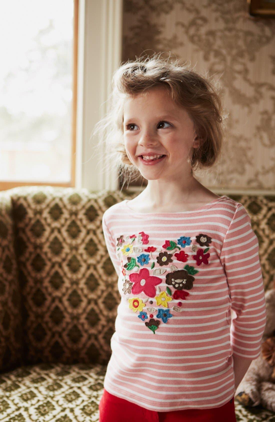 Alternate Image 2  - Mini Boden 'Big Bloom' Appliqué Tee (Toddler Girls, Little Girls & Big Girls)