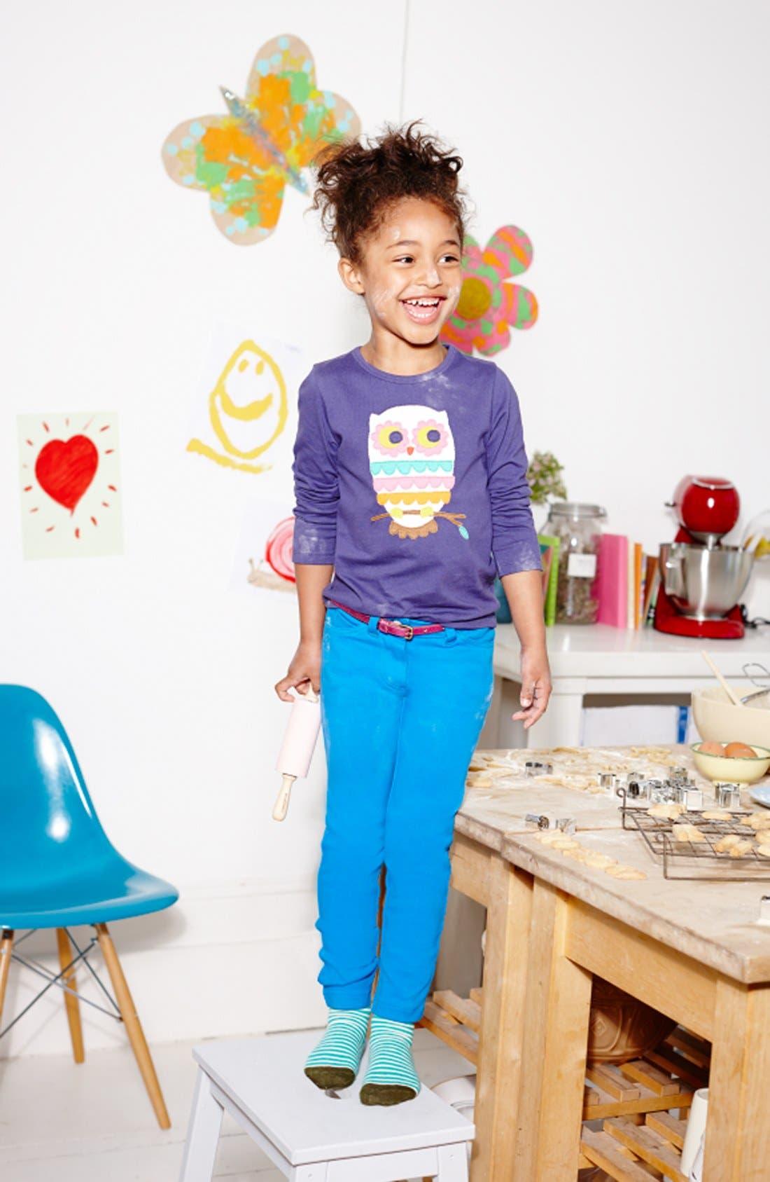 Alternate Image 2  - Mini Boden Jersey Knit Jeans (Toddler Girls, Little Girls & Big Girls)