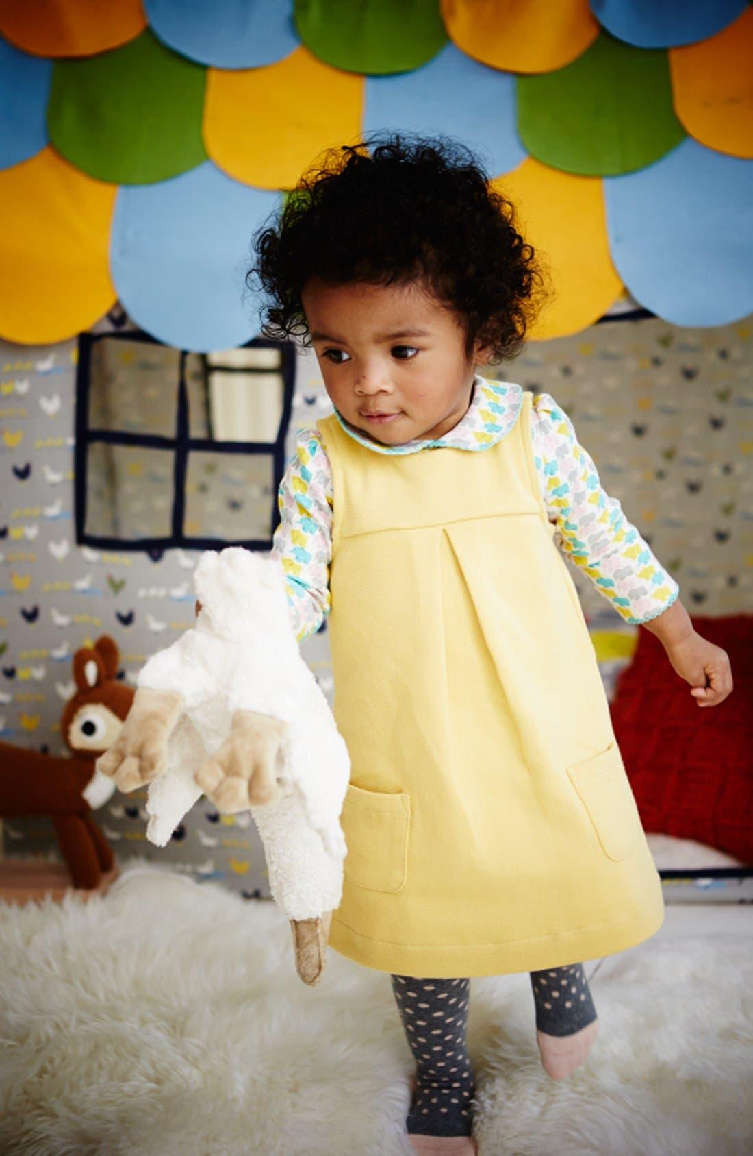 Alternate Image 2  - Mini Boden Jersey Pinafore Dress (Baby Girls)