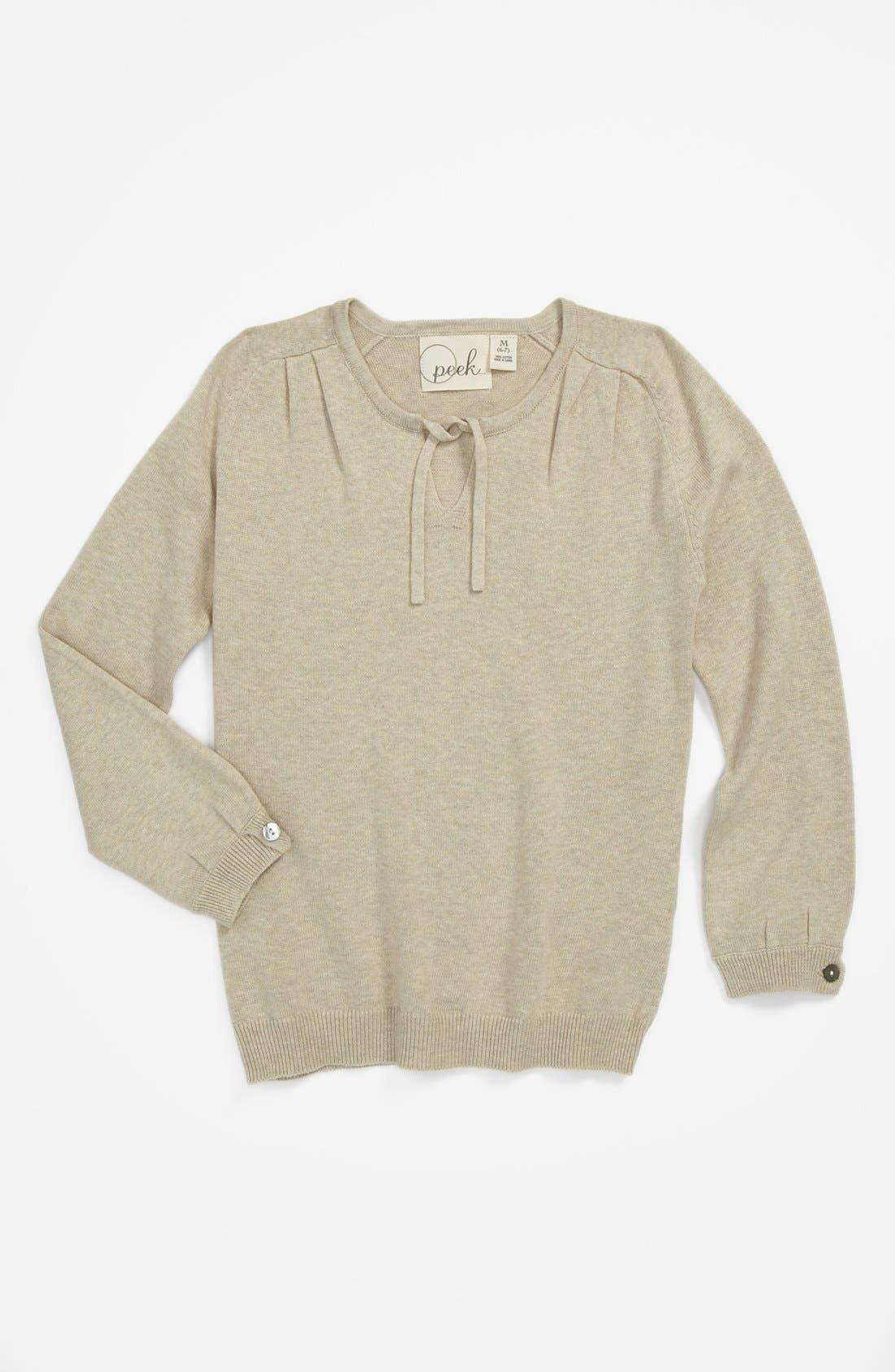 Alternate Image 1 Selected - Peek 'Rosa' Sweater (Big Girls)