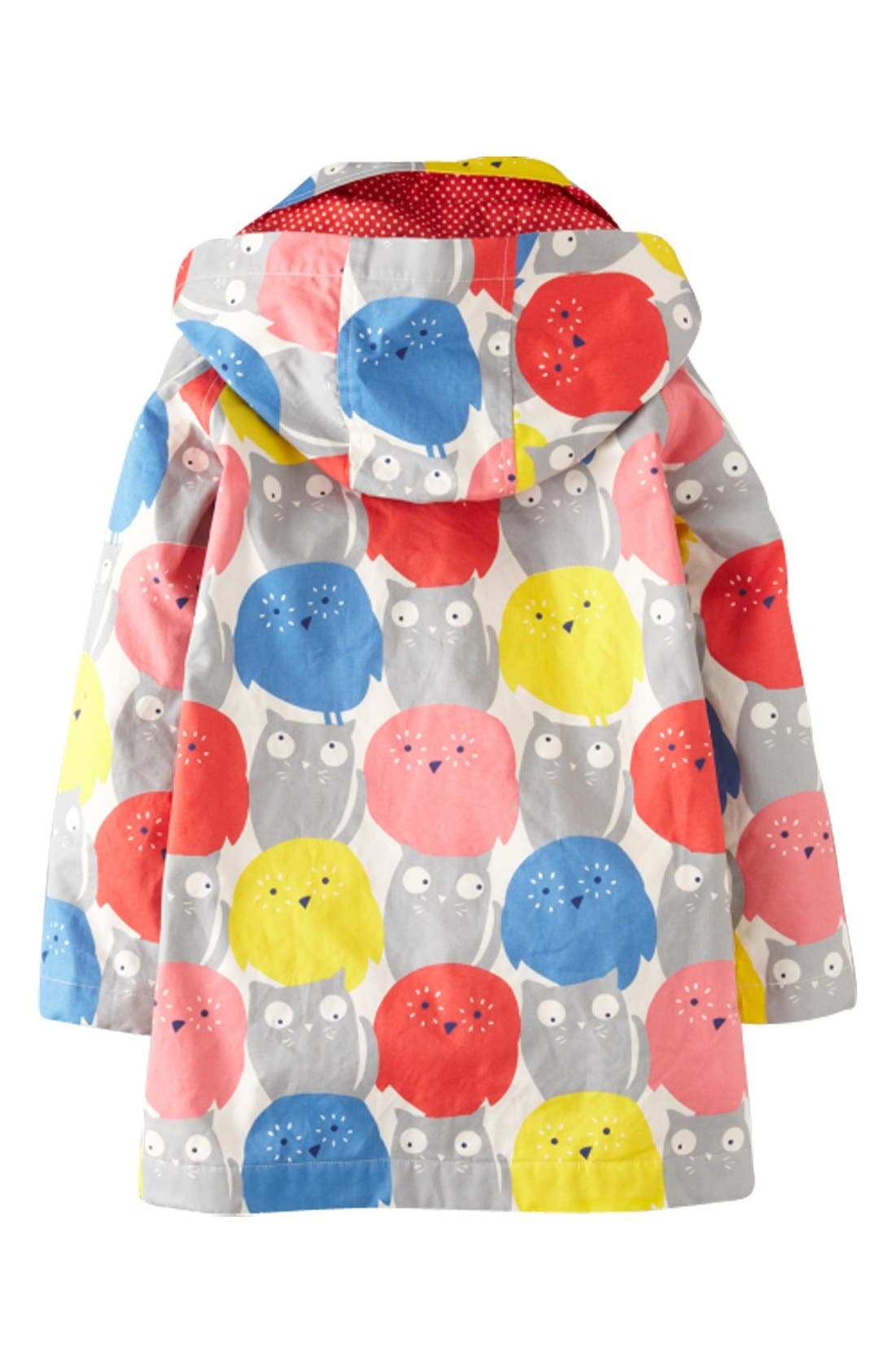 Alternate Image 2  - Mini Boden 'Rainy Day' Raincoat (Toddler Girls, Little Girls & Big Girls)